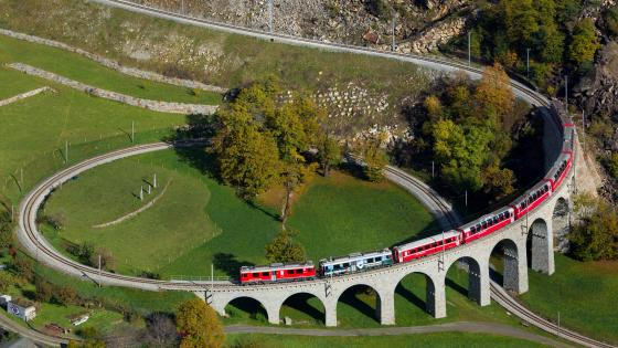 Brusio Spiral Viaduct wallpaper