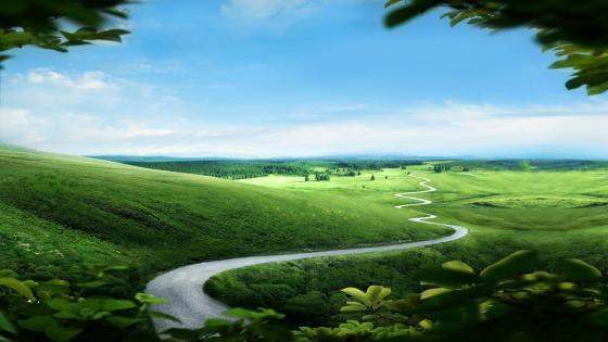 Fairy tale landscape wallpaper