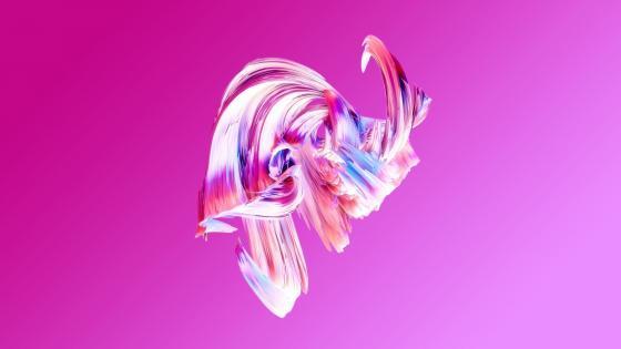Pink paintwaves wallpaper