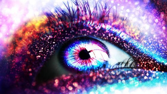 Glittering eye wallpaper
