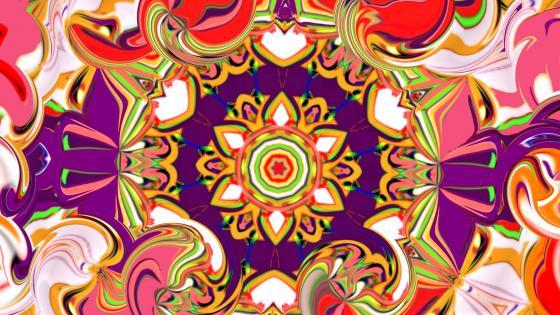 Kaleidoscope effect wallpaper