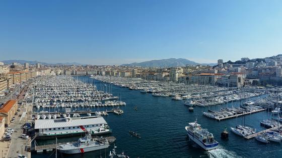Panoramic View of Vieux-Port de Marseille wallpaper