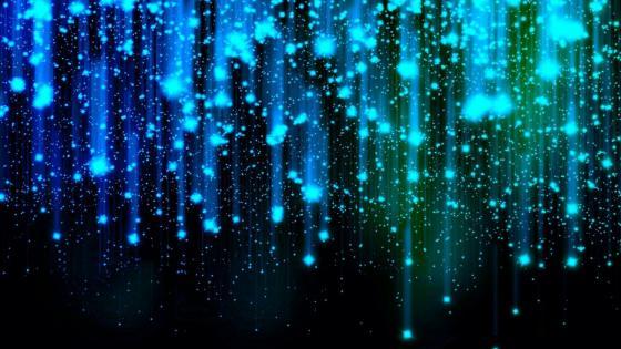 Blue sparks wallpaper