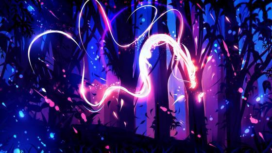 Neon creature wallpaper
