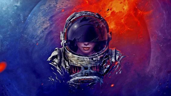 Spacefarer wallpaper