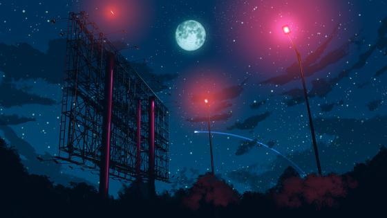 Anime night sky wallpaper