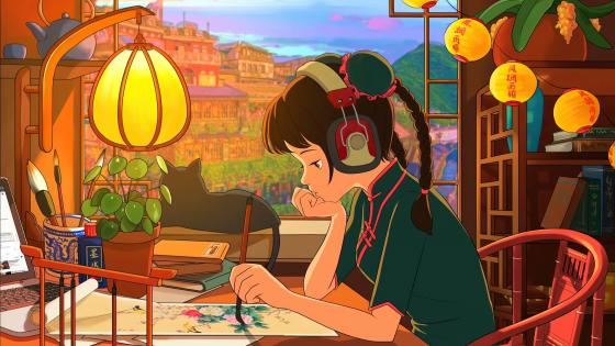 Lofi anime girl wallpaper