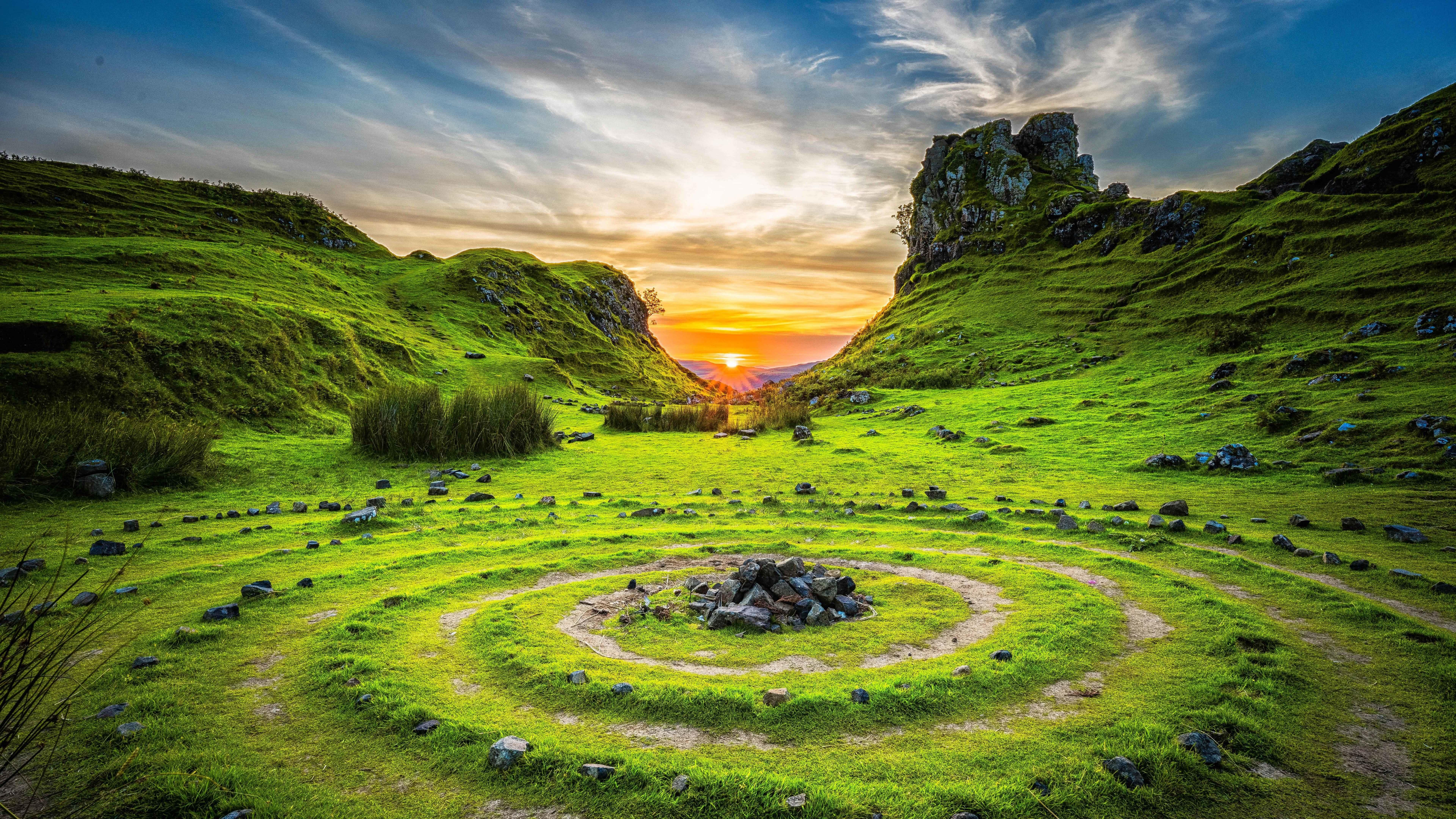 Fairy glen on Isle of Skye, Scotland wallpaper