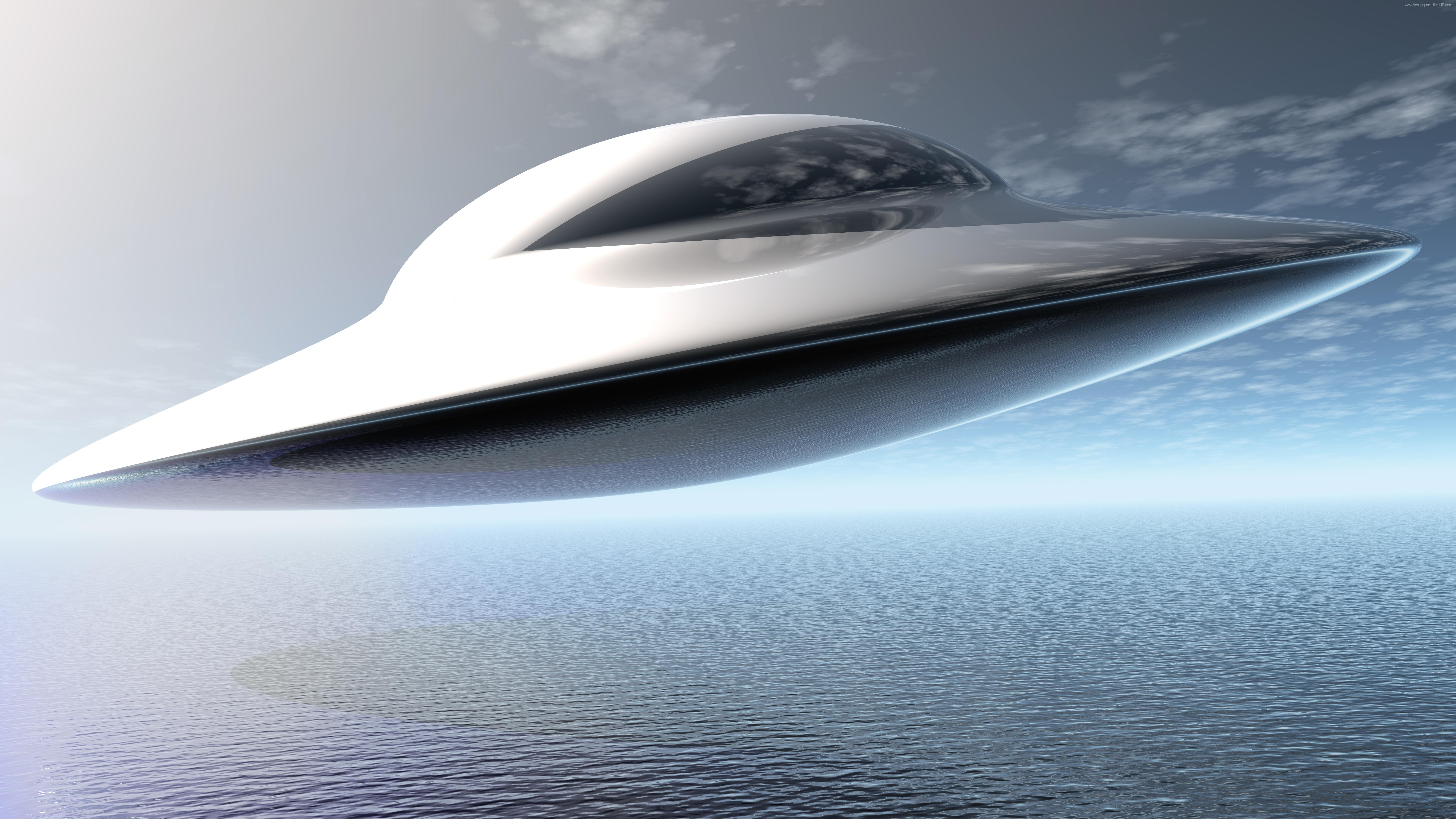 Flying saucer wallpaper