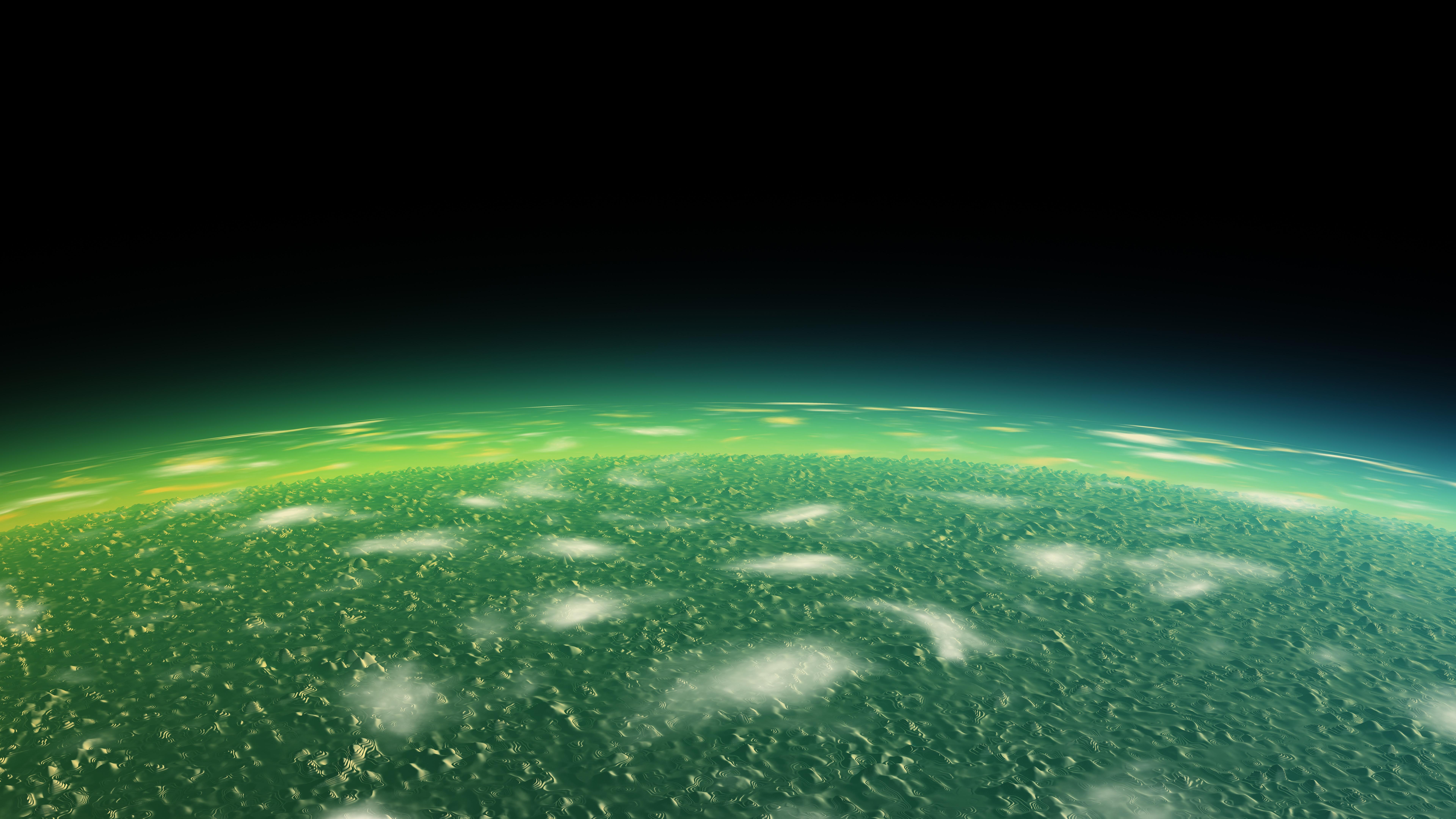 Alien green planet wallpaper