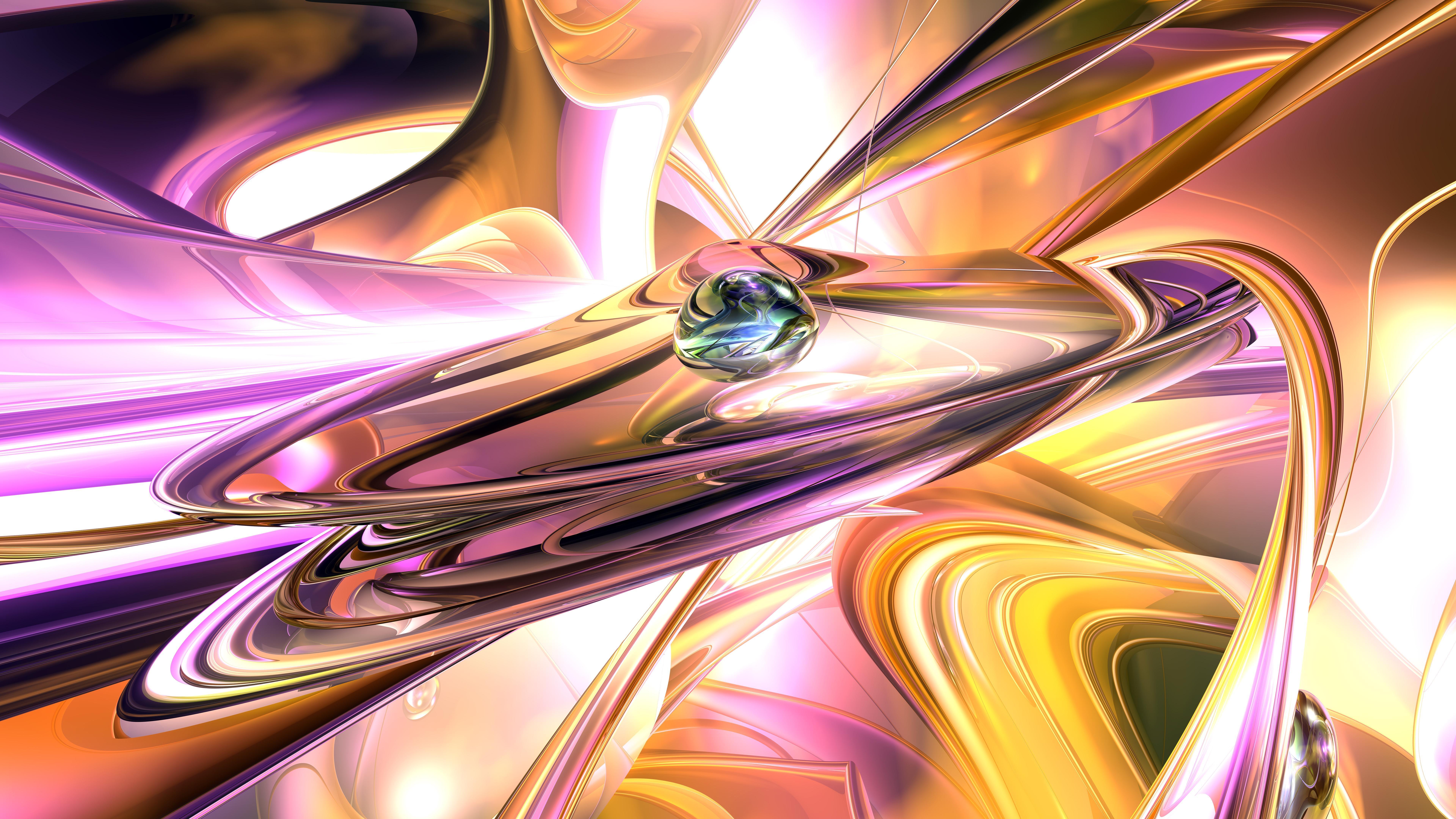 Pink futuristic digital abstract art wallpaper
