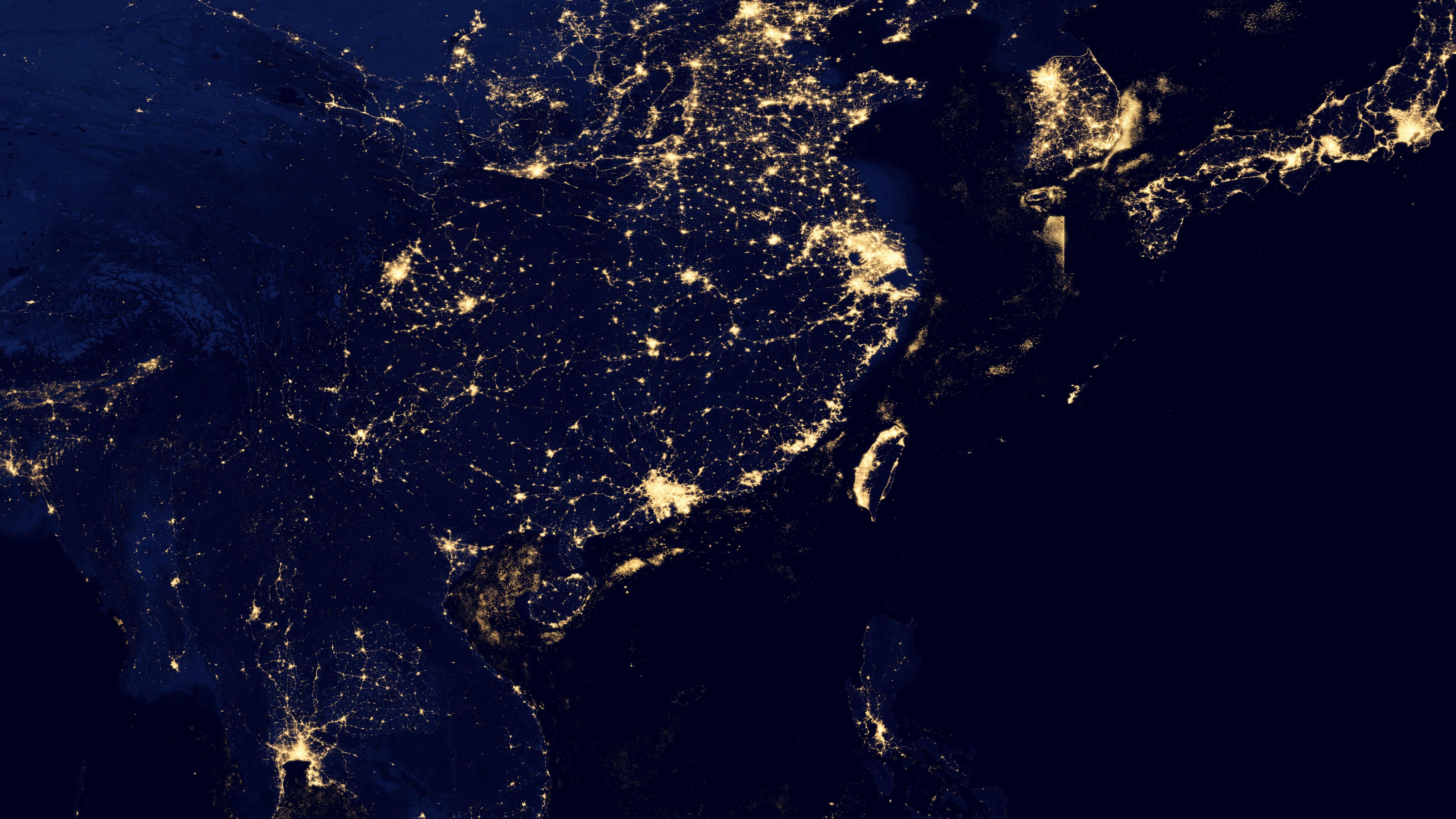 Night Lights of East Asia 2012 wallpaper