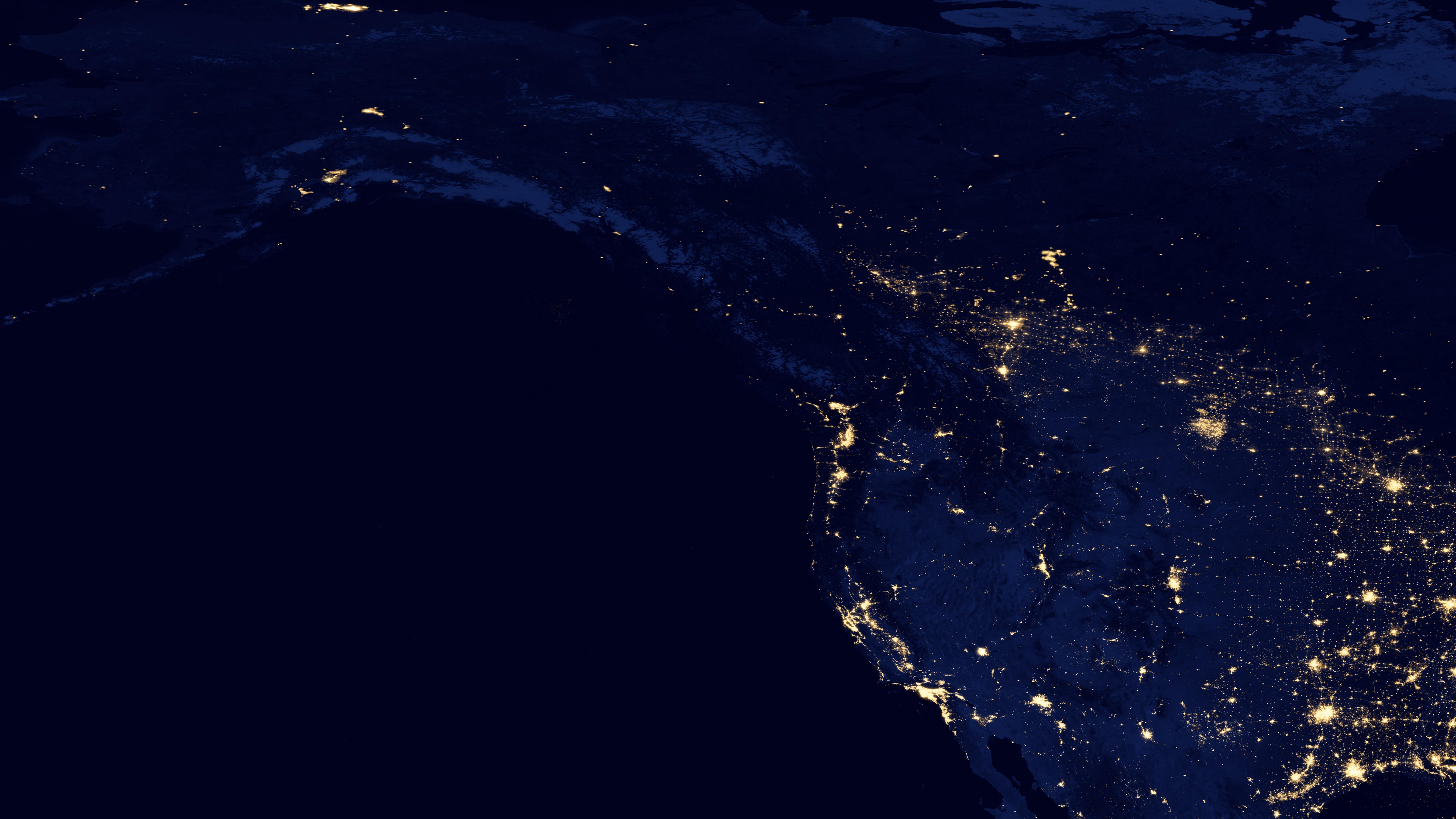 Night Lights Along the Pacific Coast 2012 wallpaper