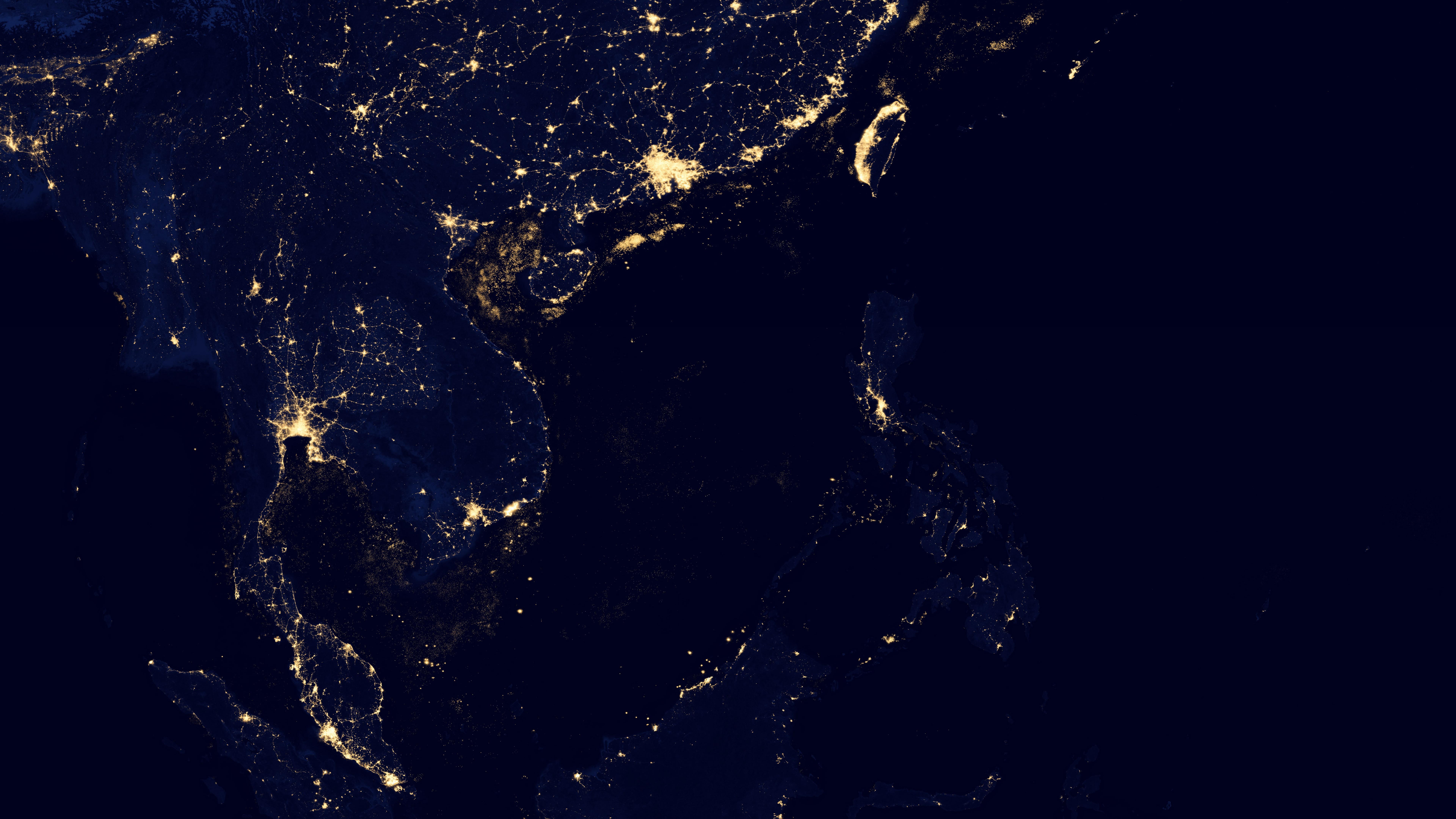 Night Lights in Southeast Asia v2012 wallpaper