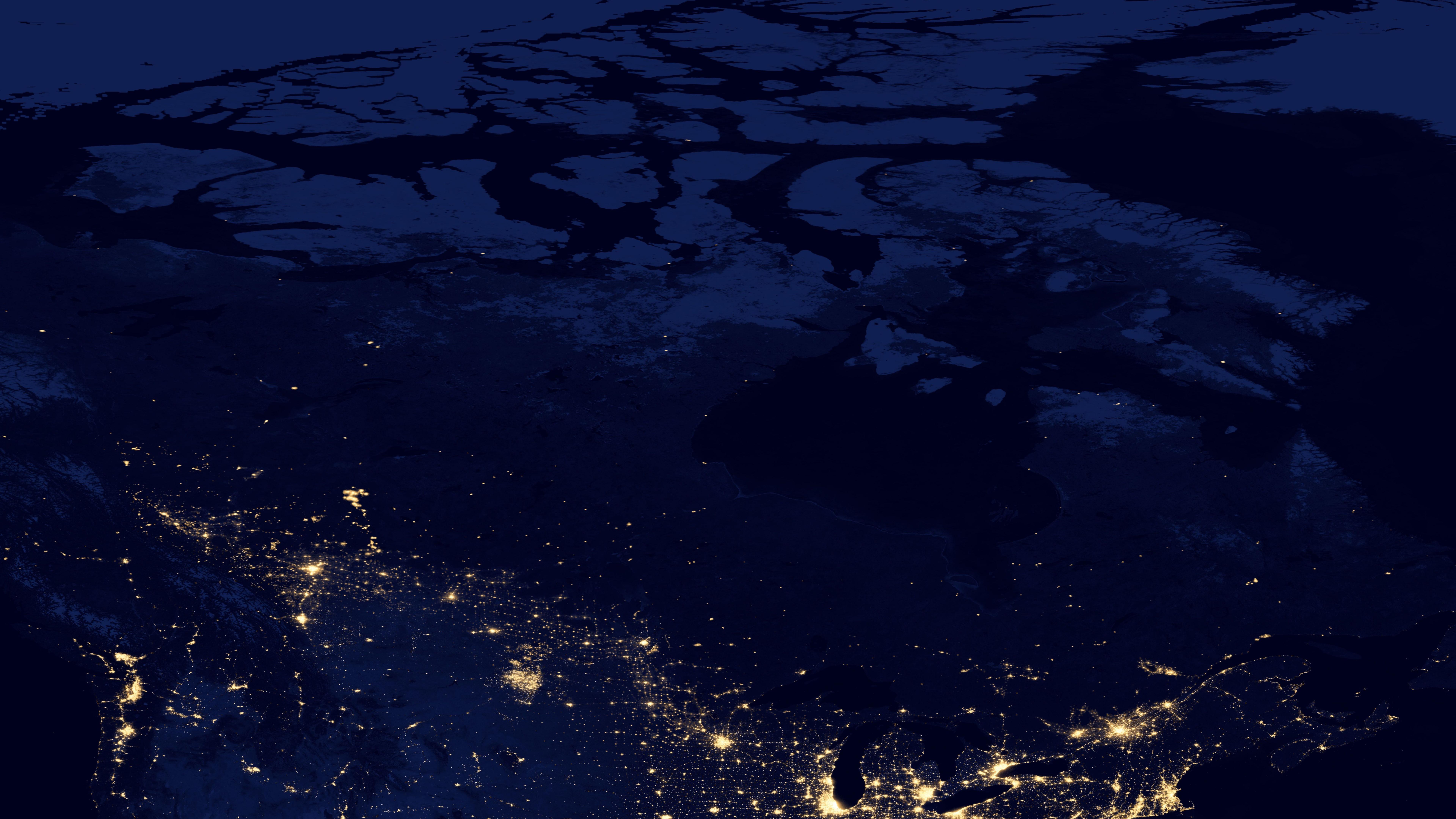 Night Lights of Canada v2012 wallpaper