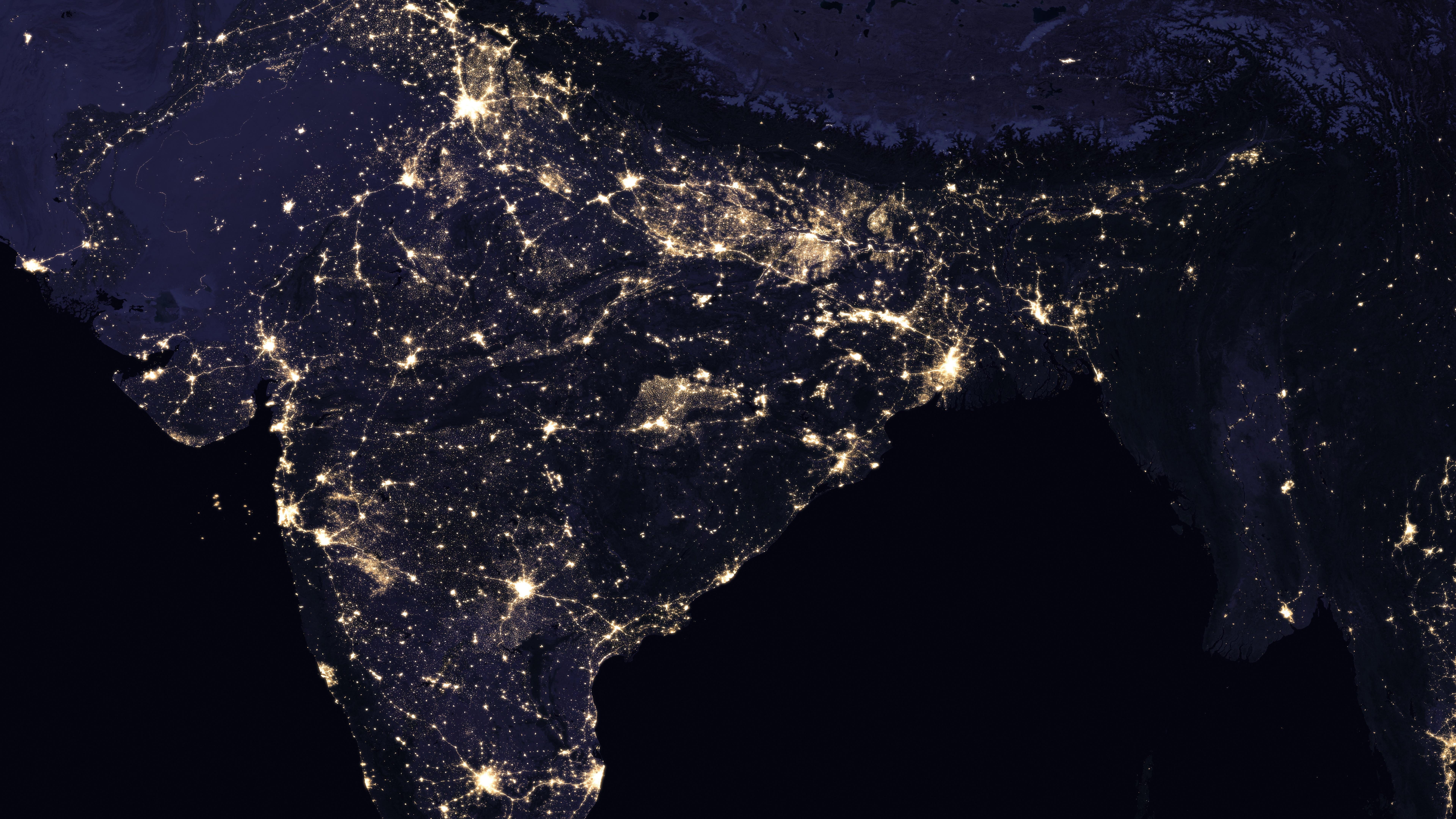 Night Lights of India 2016 wallpaper