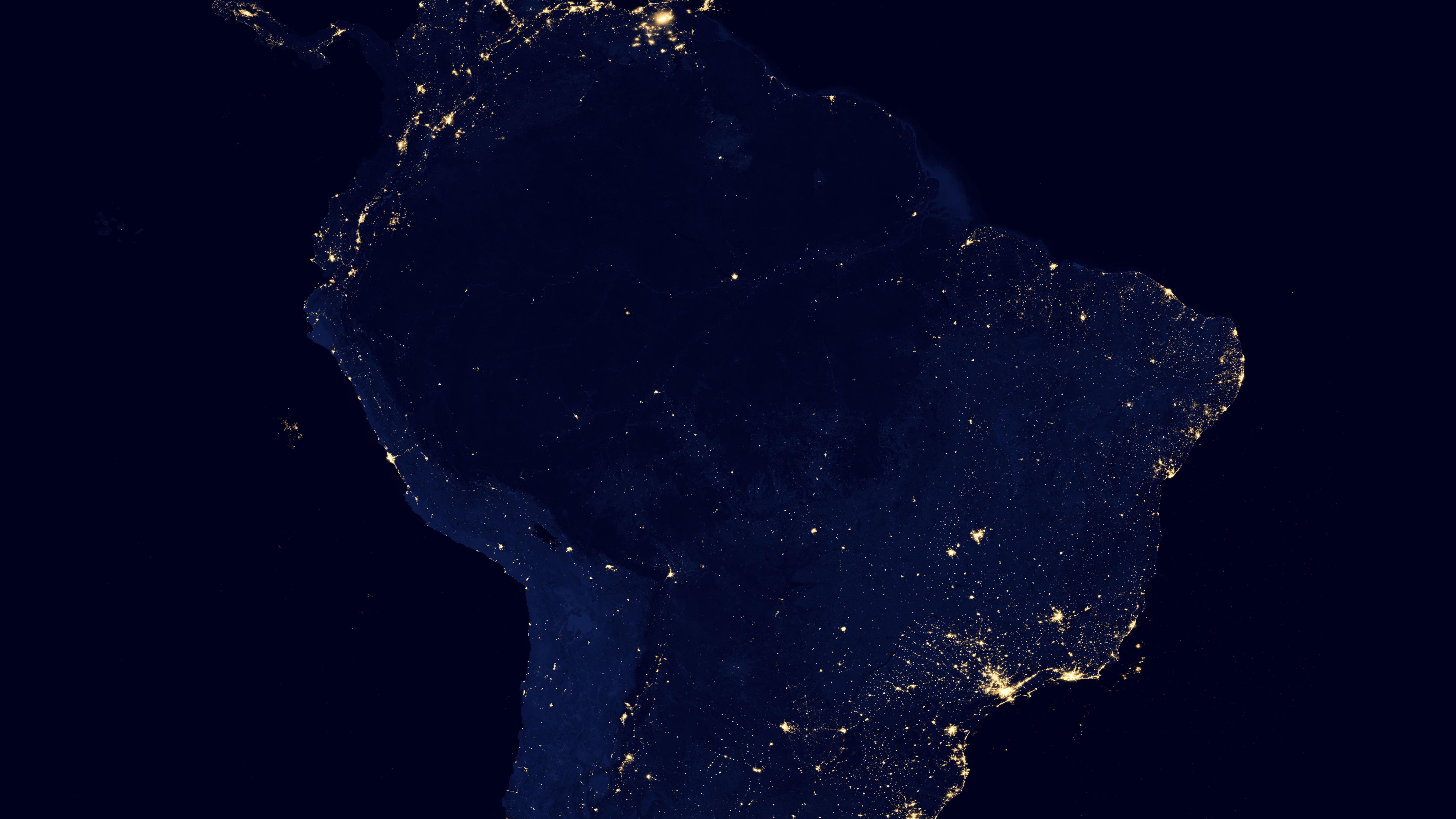 Night Lights of South America v2012 wallpaper