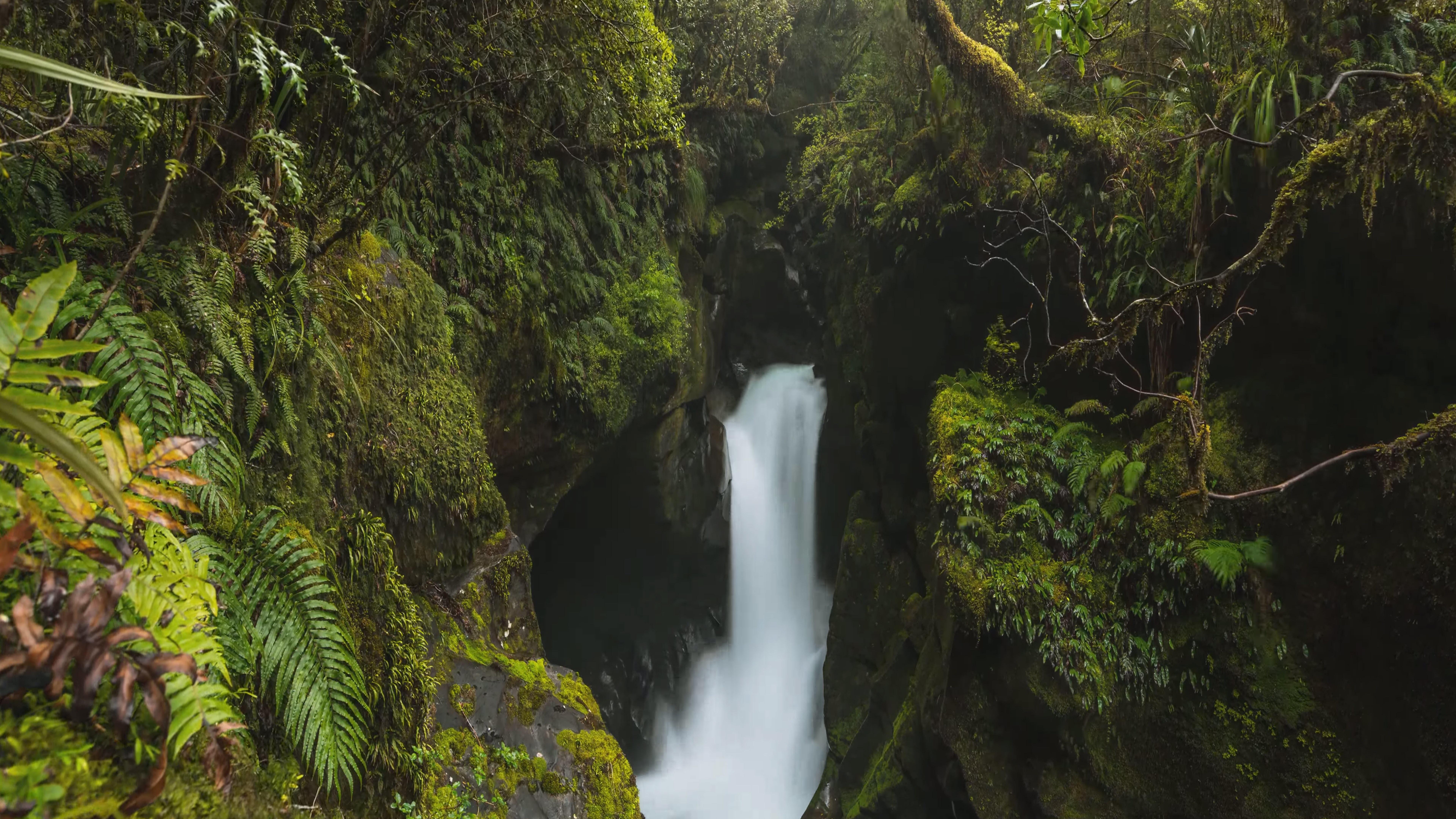 Waterfall in New Zealand wallpaper