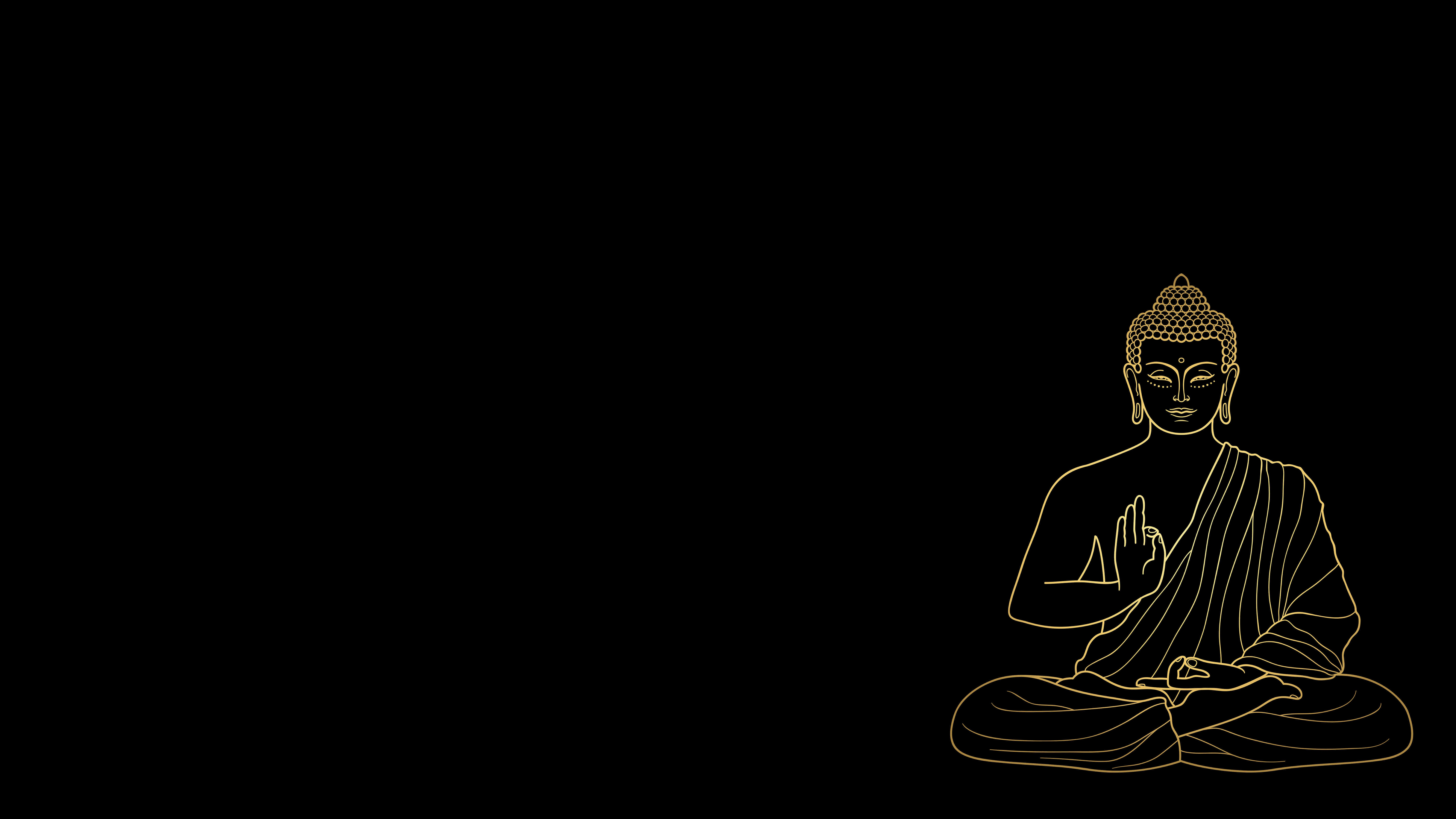 Golden Buddha wallpaper