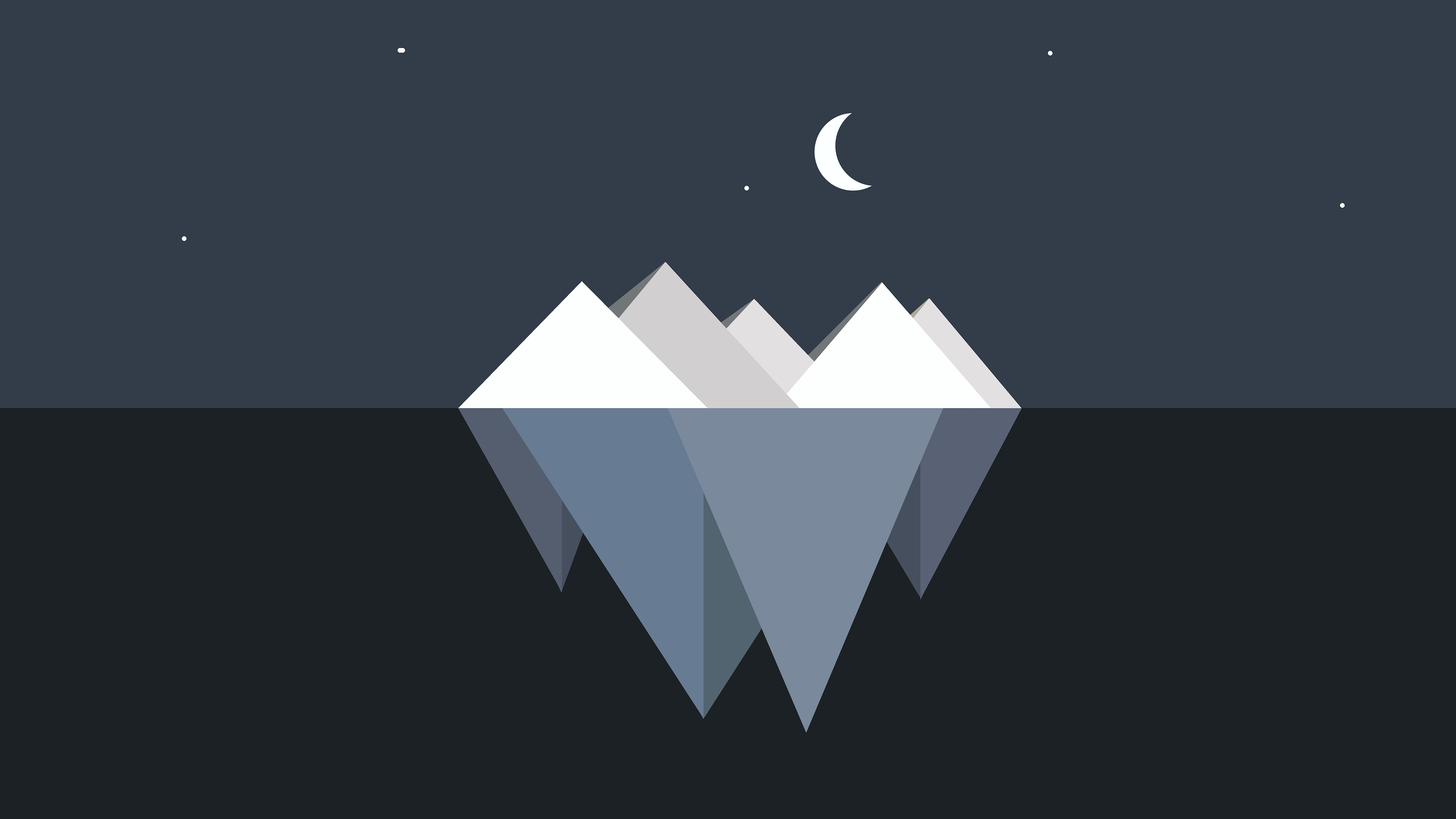 Minimal iceberg wallpaper
