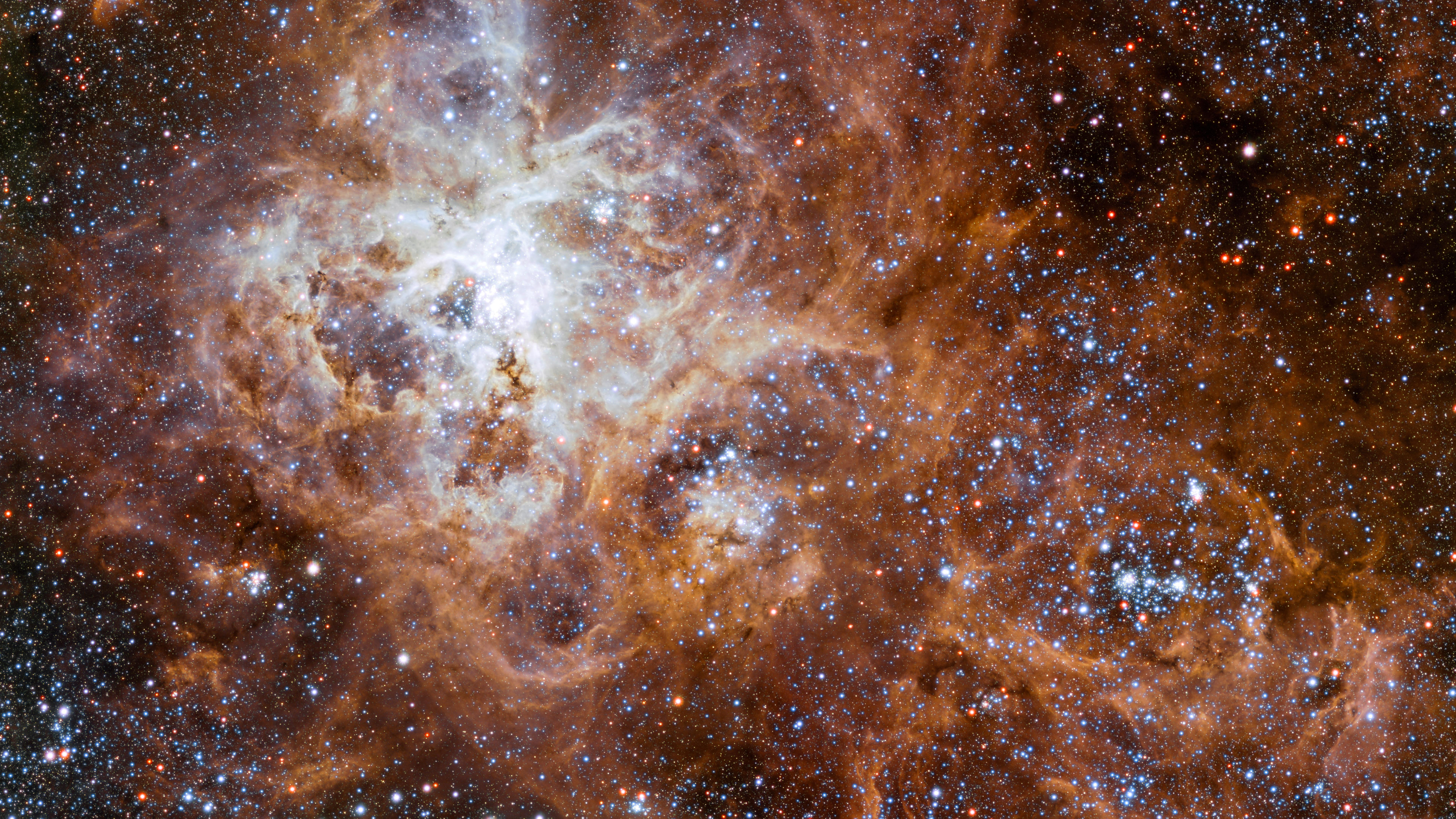 The Tarantula Nebula in the Large Magellanic Cloud wallpaper