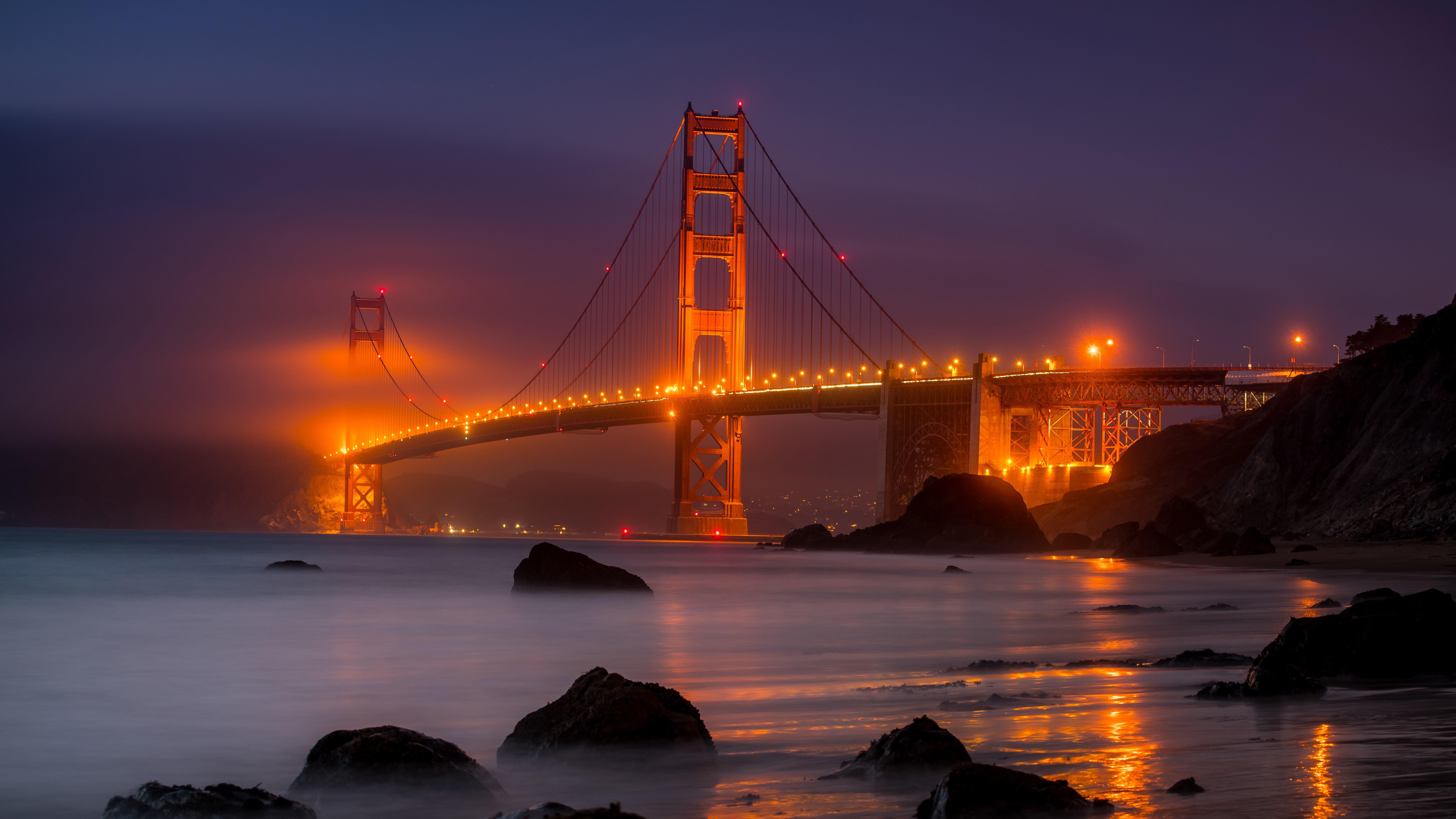 Golden Gate Bridge at night wallpaper