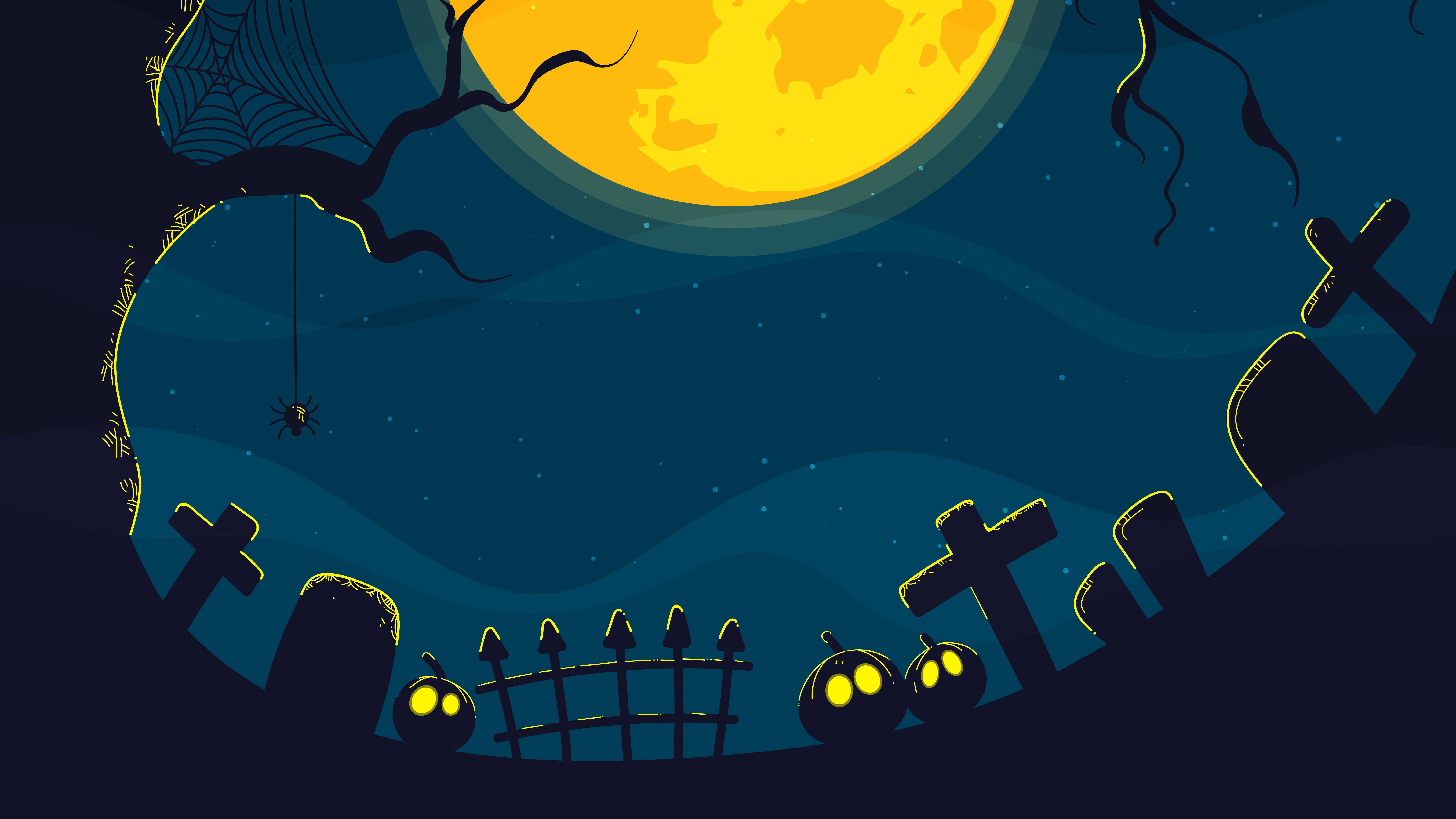 Halloween cemetery wallpaper
