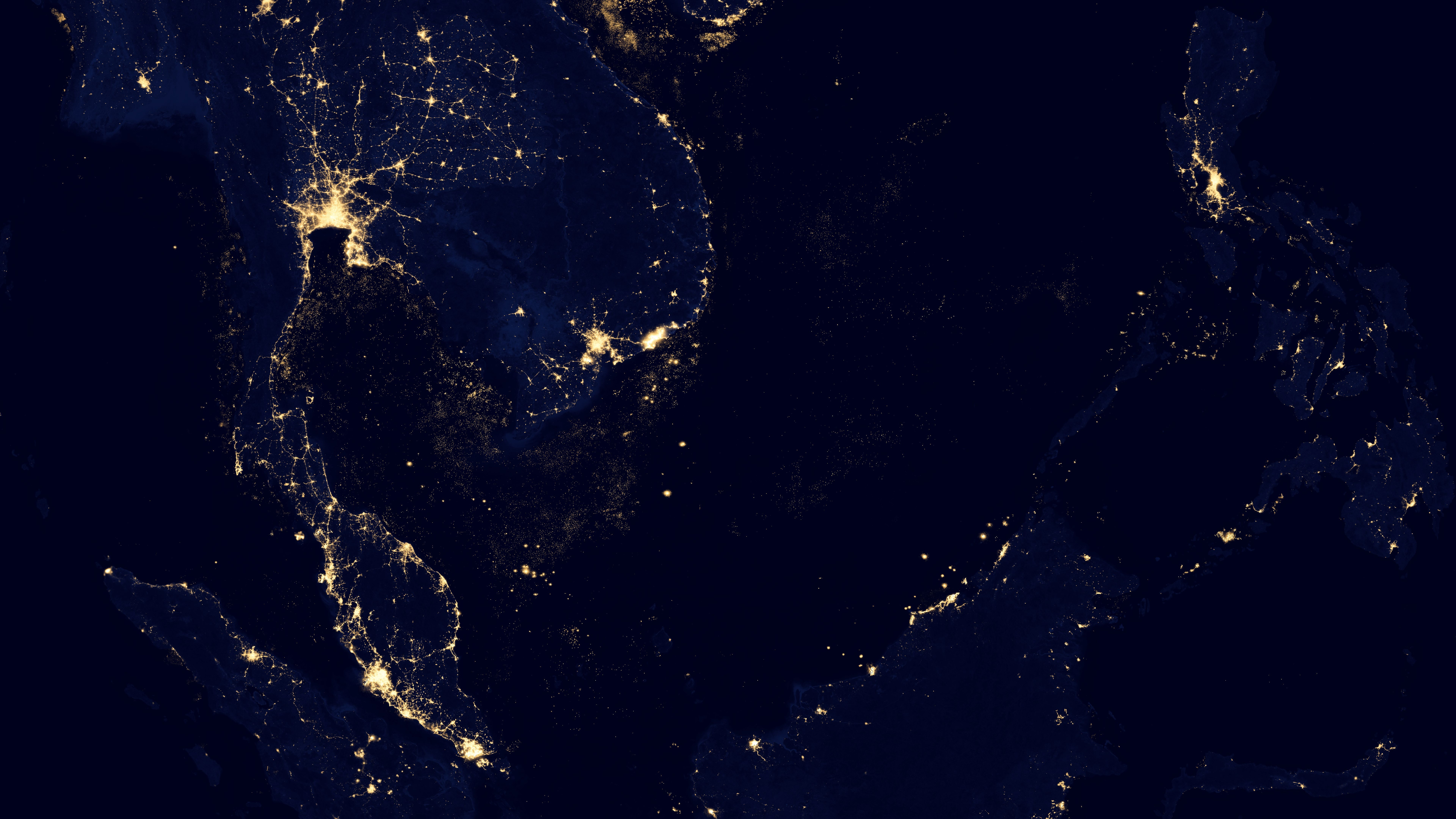 Night Lights of Indochina, Indonesia, Malaysia & The Philippines v2012 wallpaper