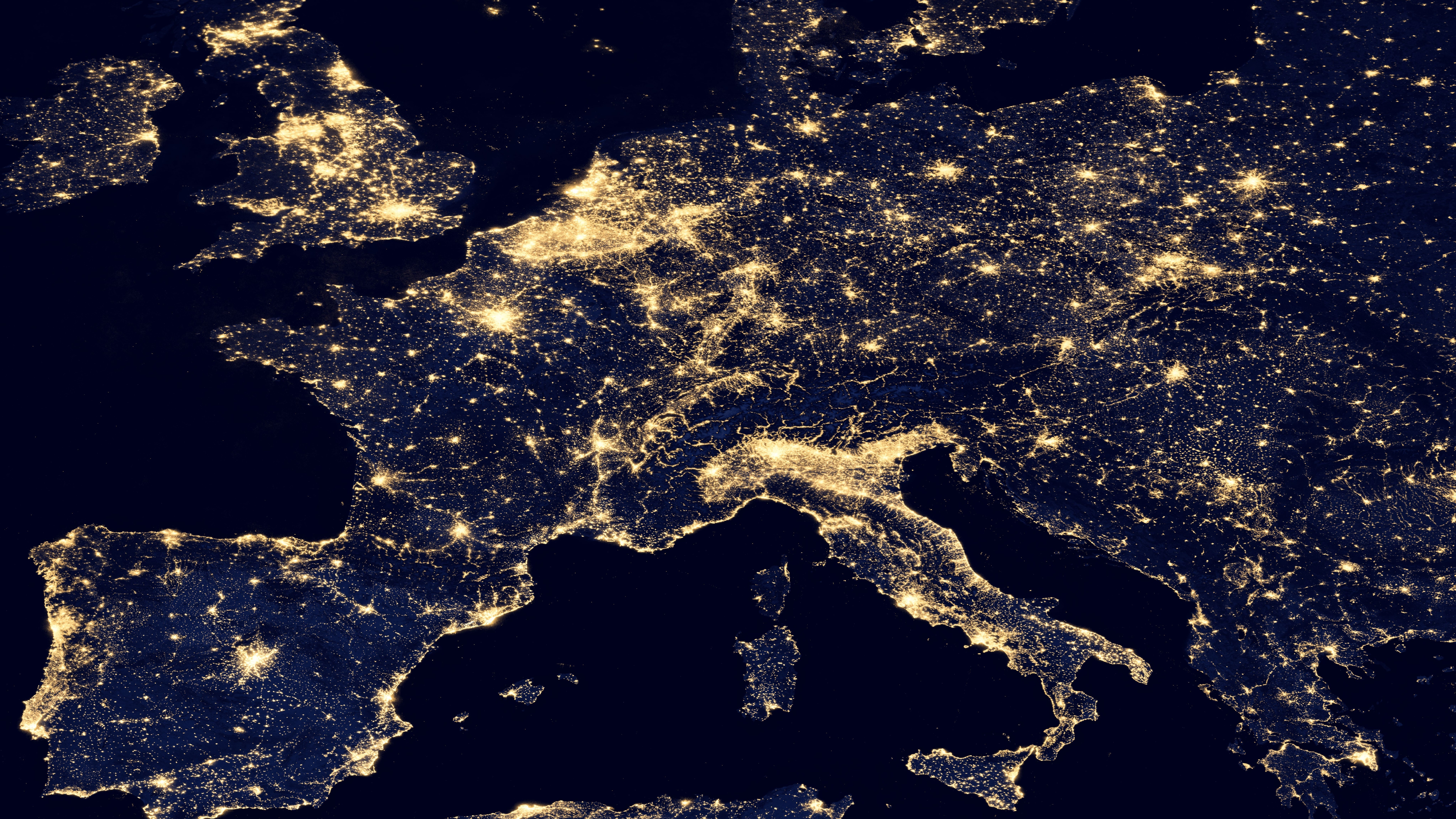 Night Lights of Central, Southern & Western Europe v2012 wallpaper