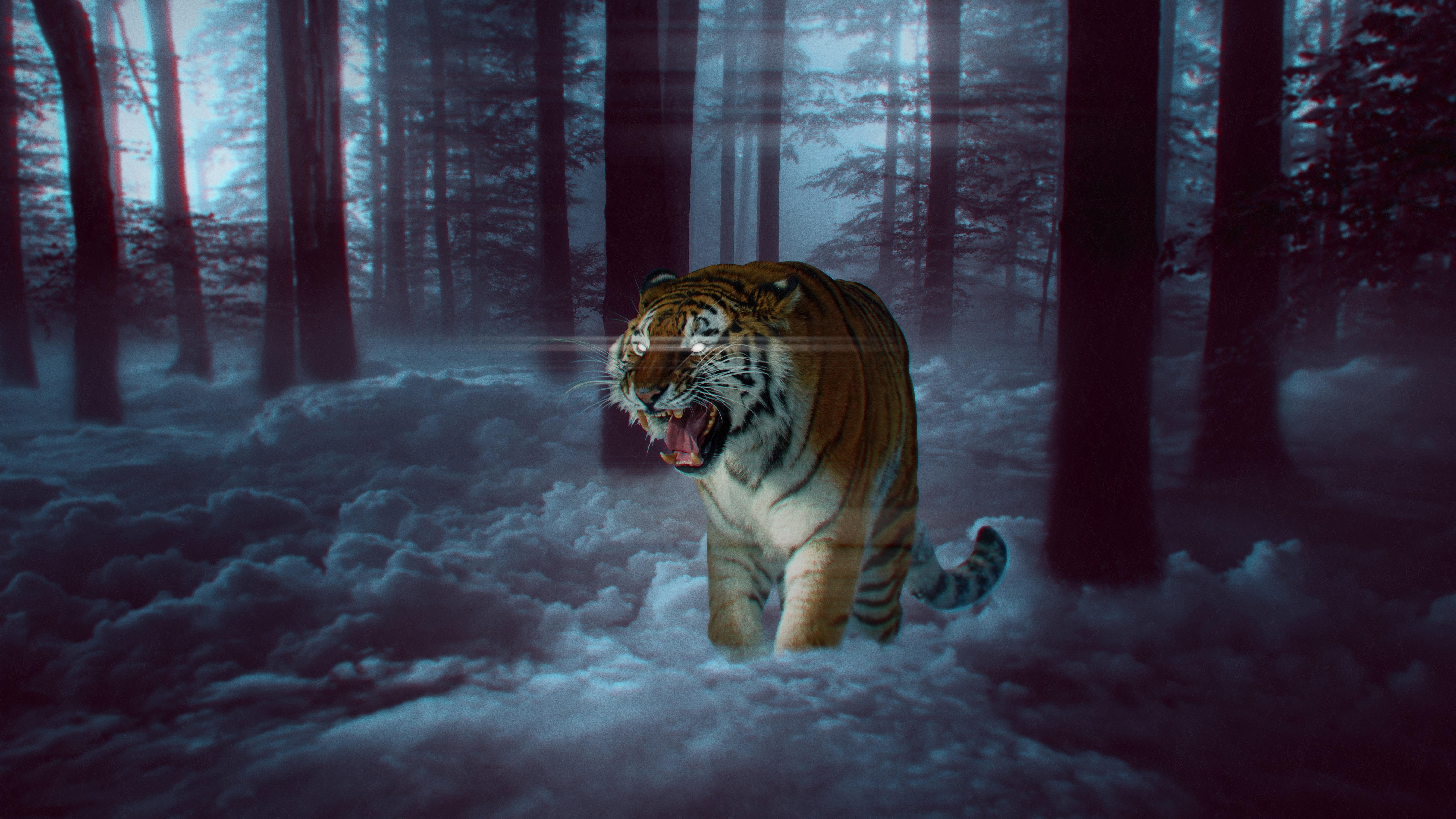 Predator tiger wallpaper