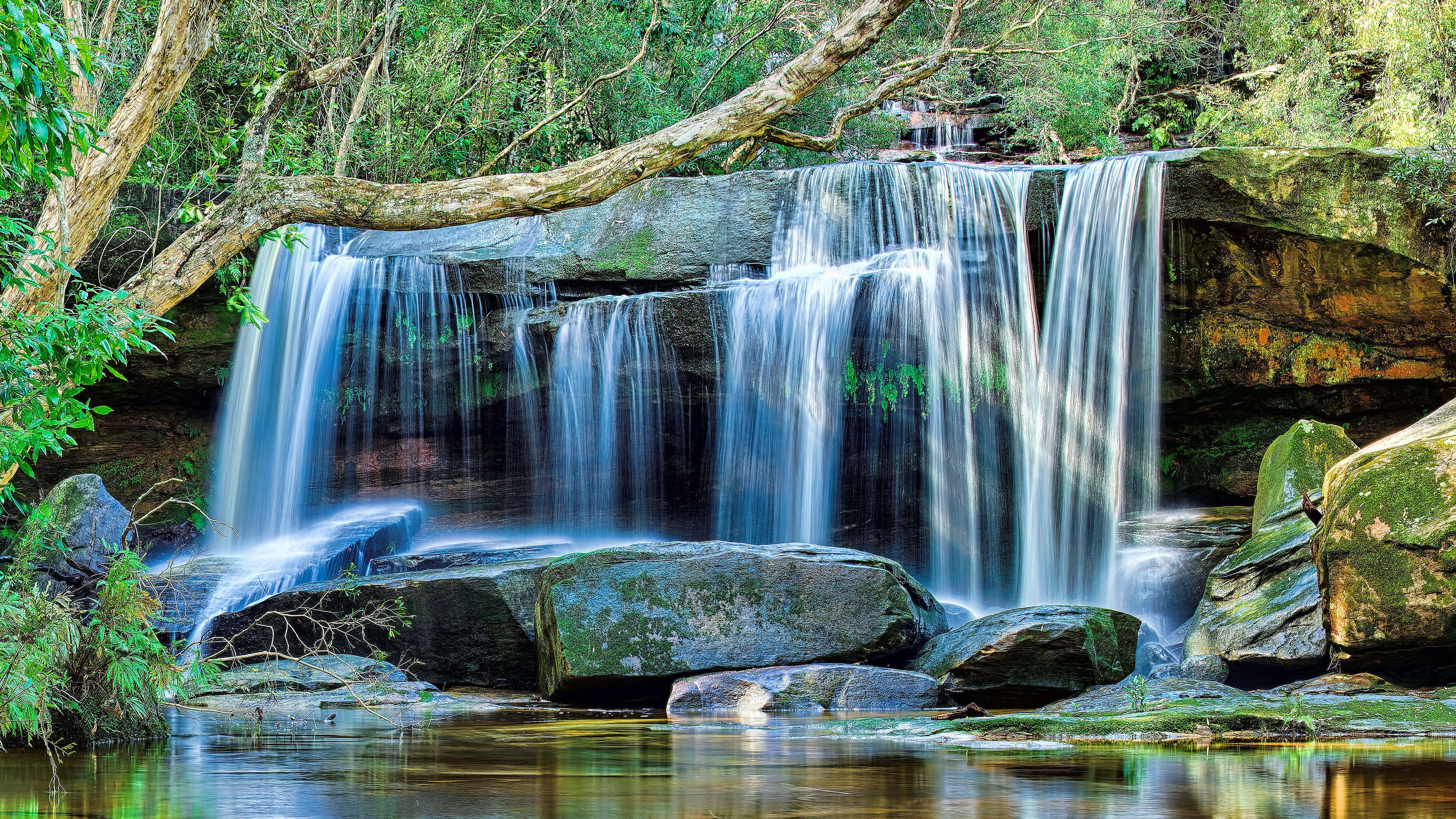 Awesome cascading waterfall wallpaper