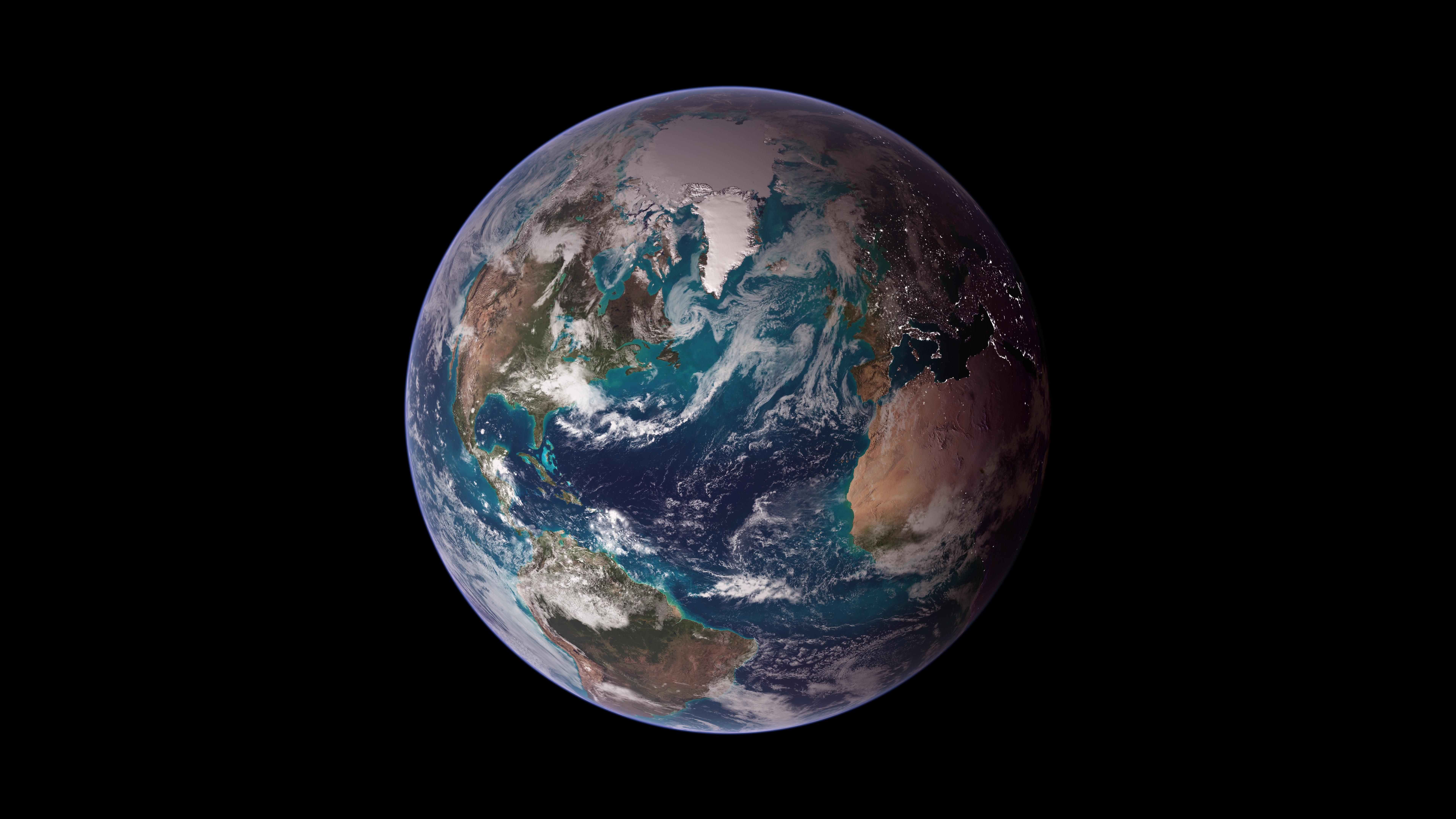 Twin Blue Marbles: Western Hemisphere wallpaper
