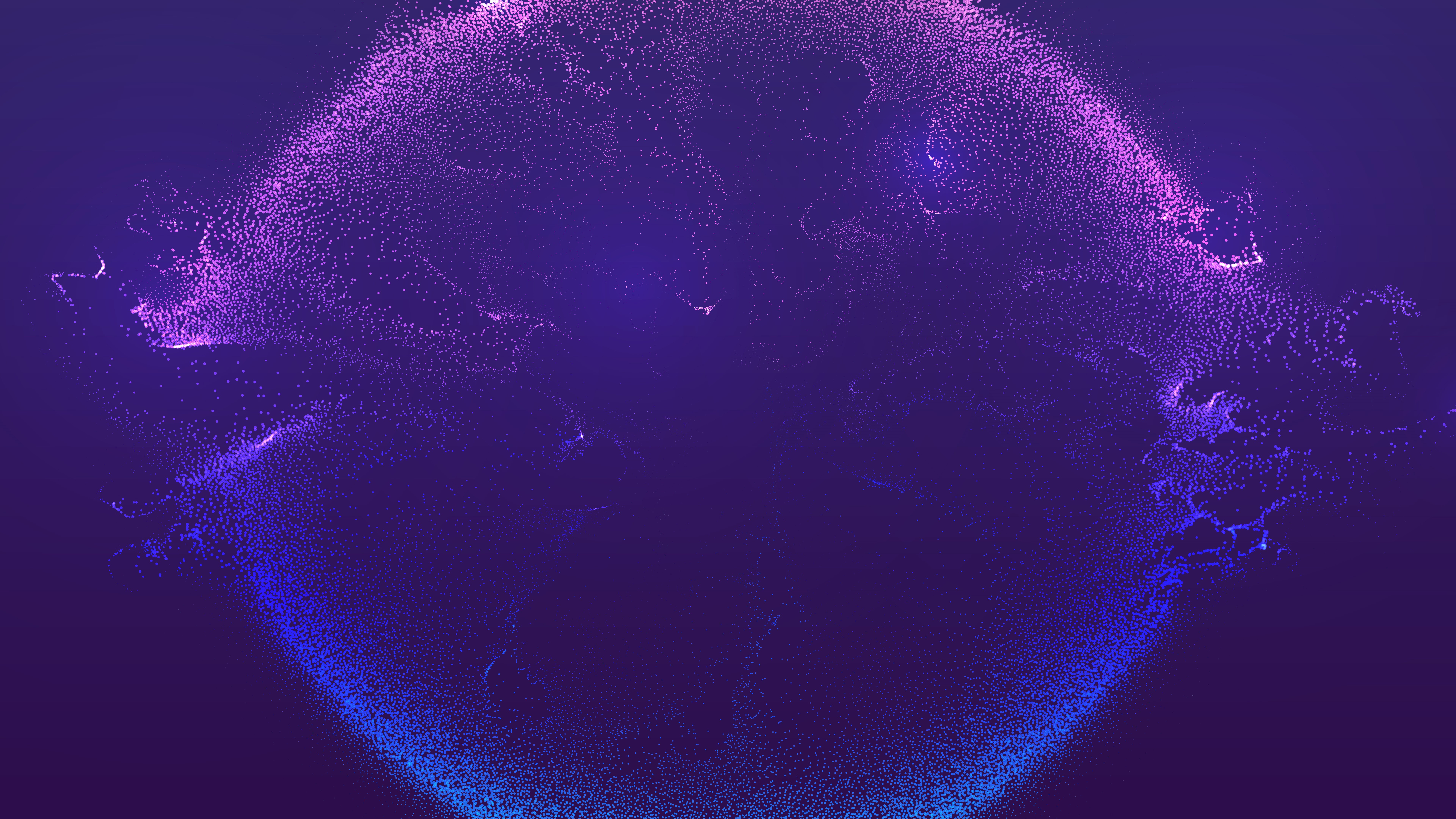Blue explosion wallpaper