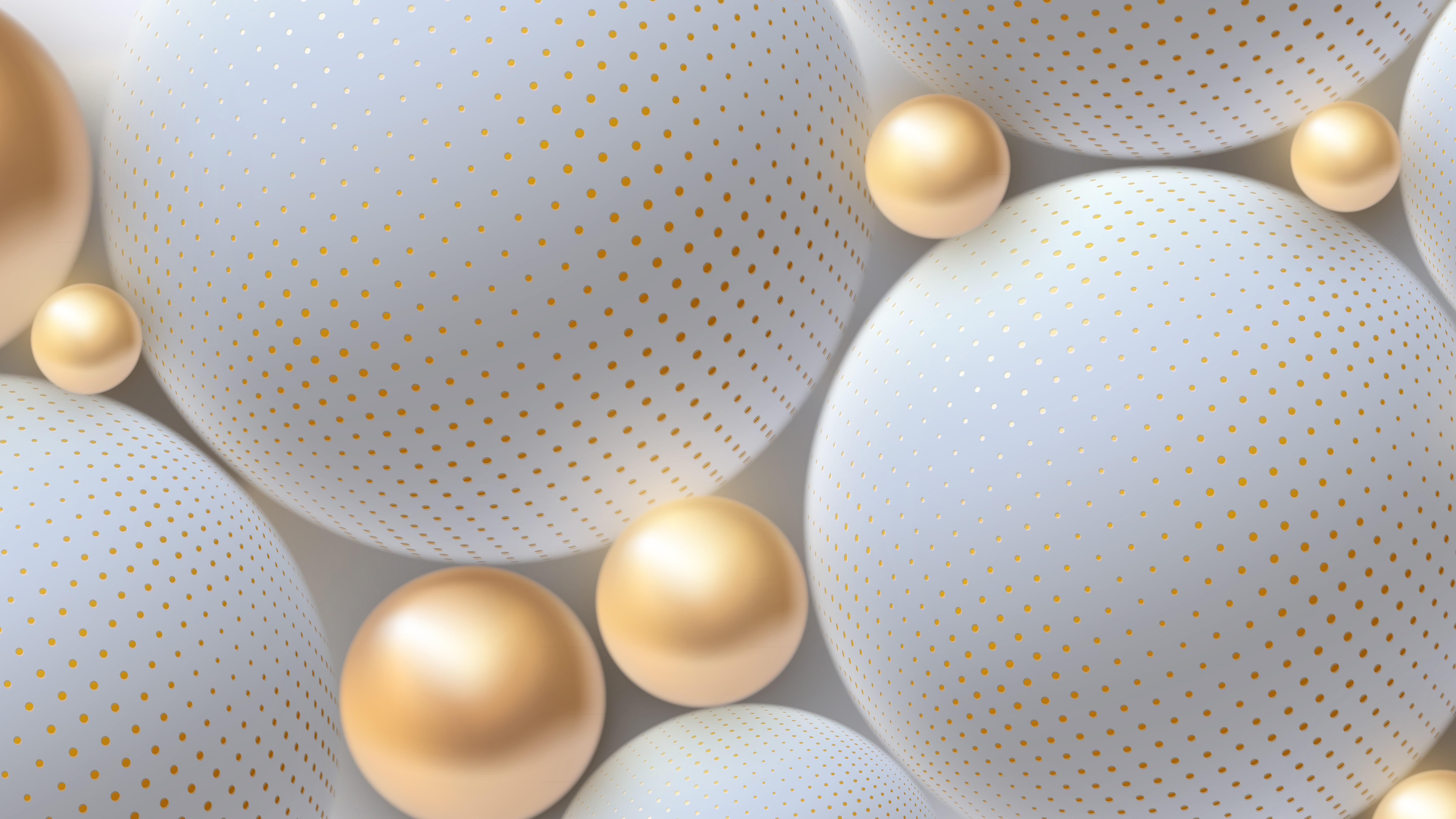 3D golden pearls wallpaper