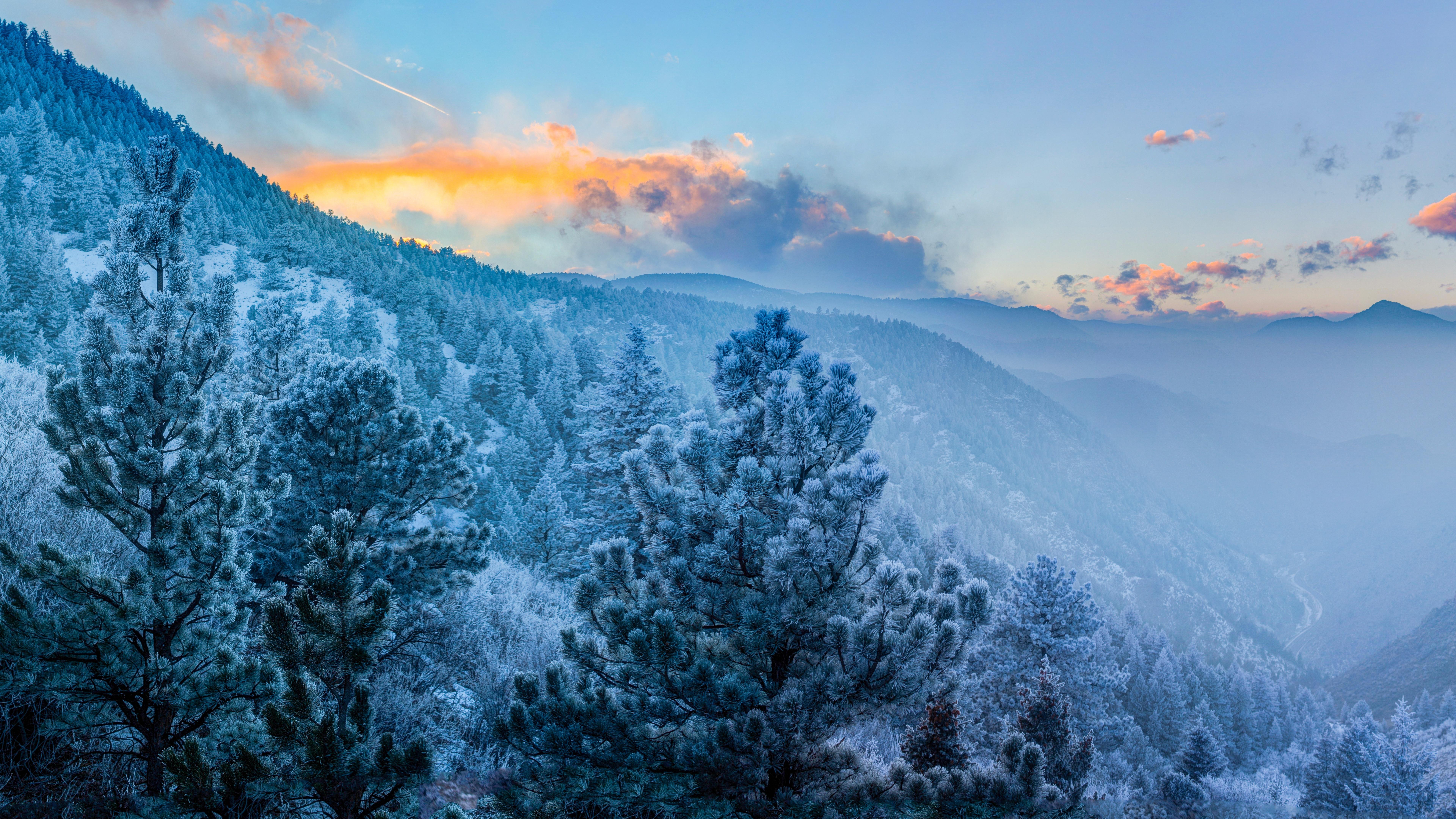 Winter landscape wallpaper