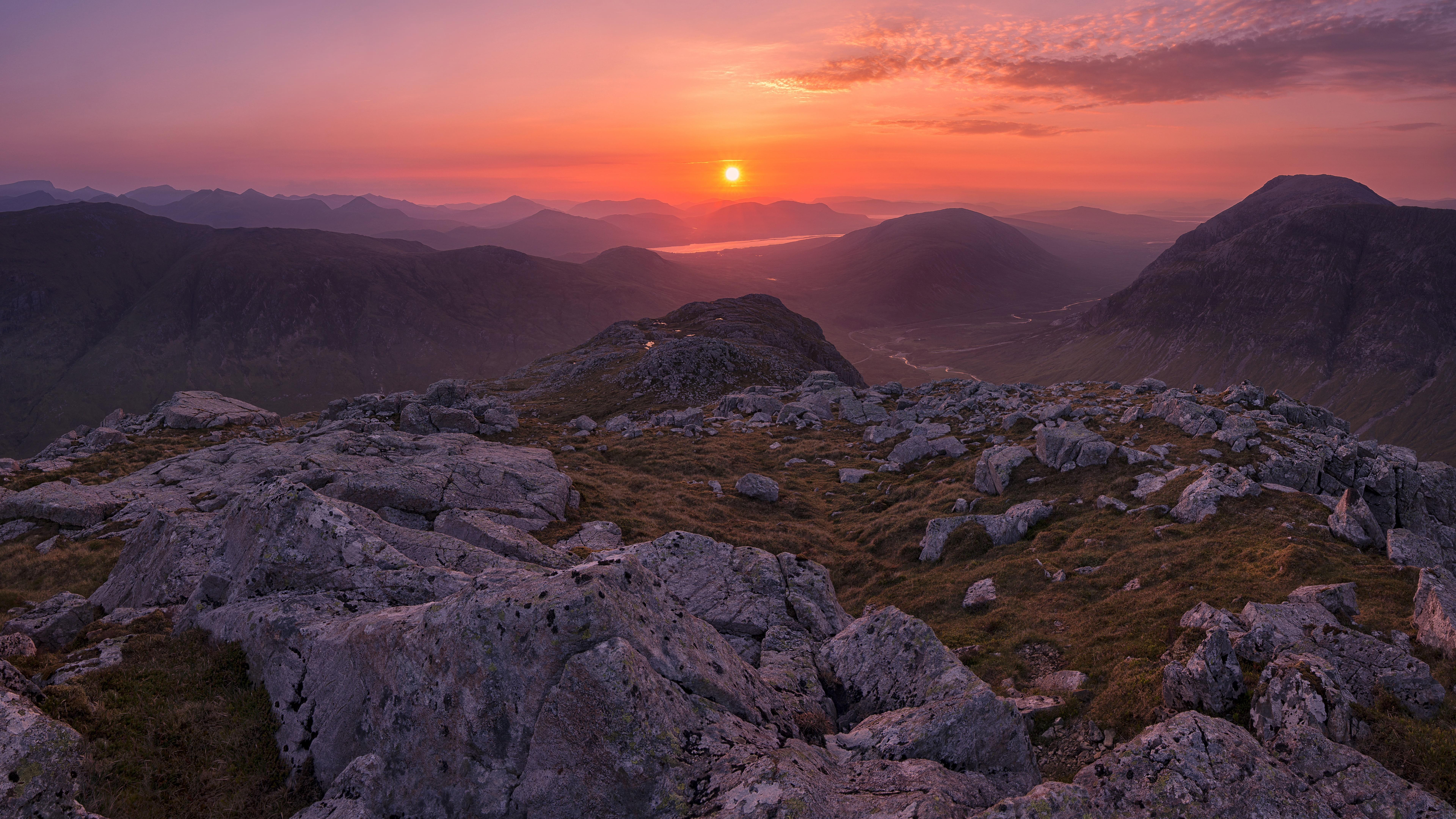 West Highlands of Scotland at sunrise wallpaper