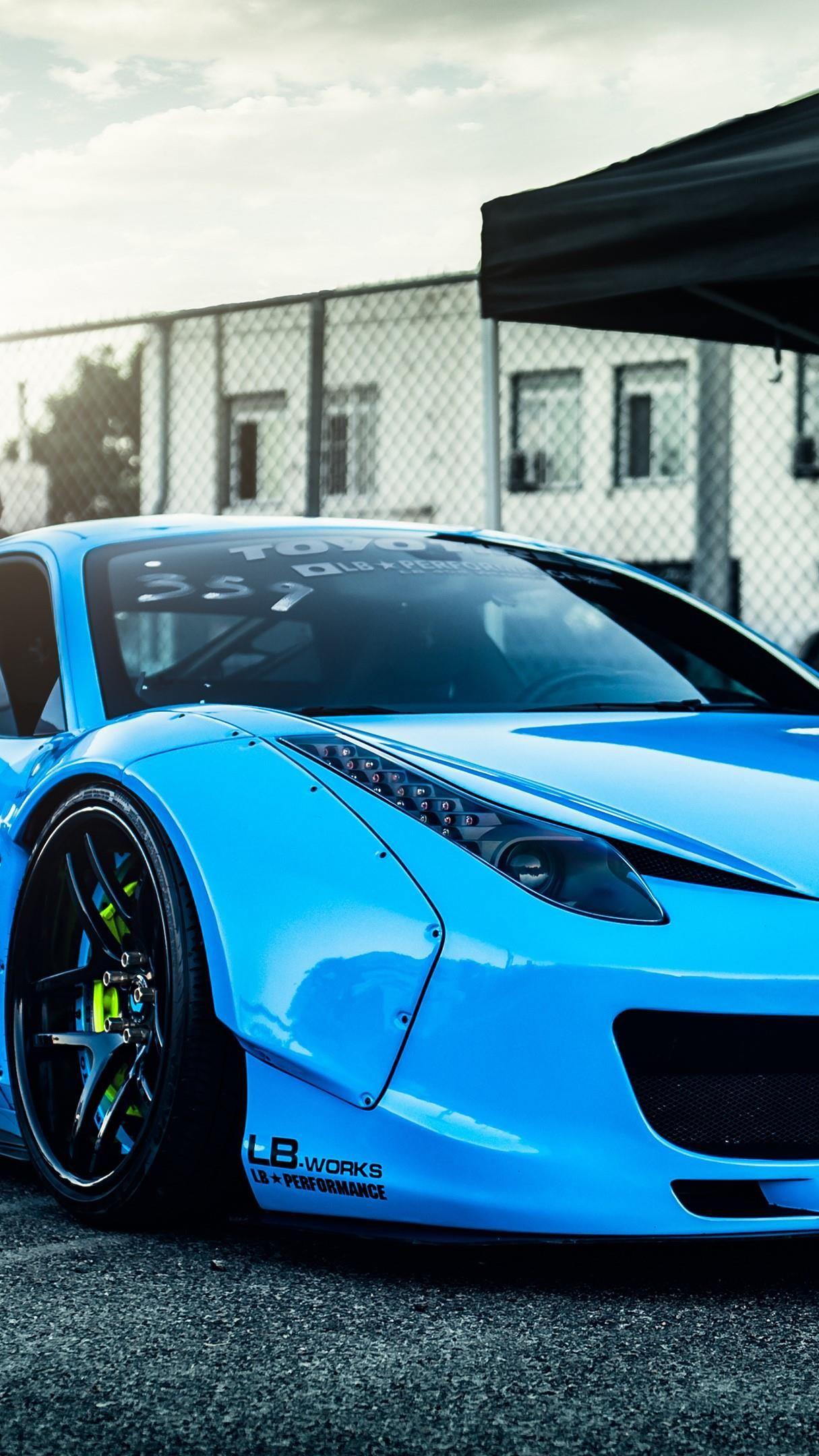 Blue Ferrari 458 4k Ultrahd Wallpaper Backiee Free Ultra Hd