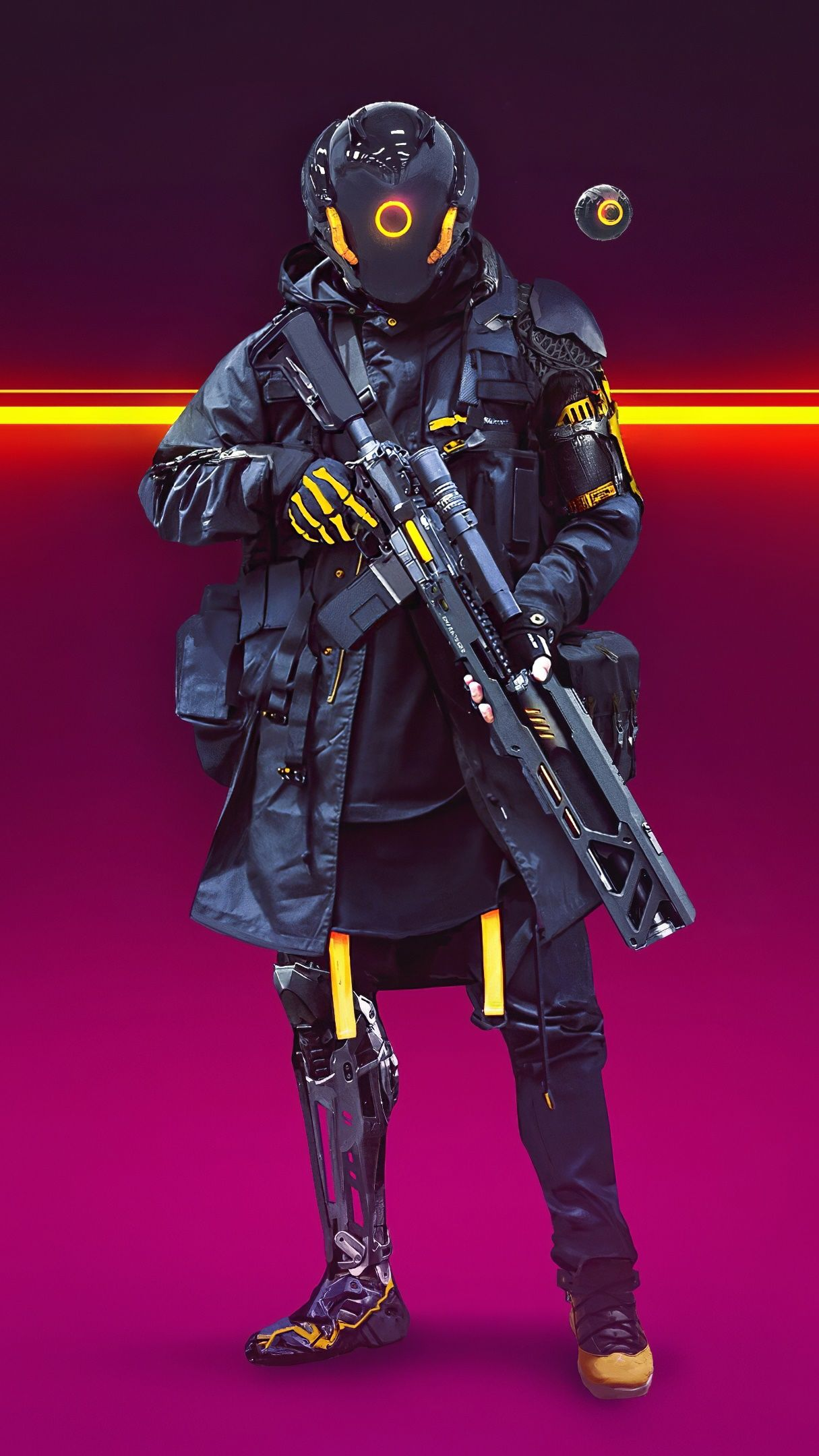 Cyberpunk Soldier 4K UltraHD Wallpaper - backiee - Free ...