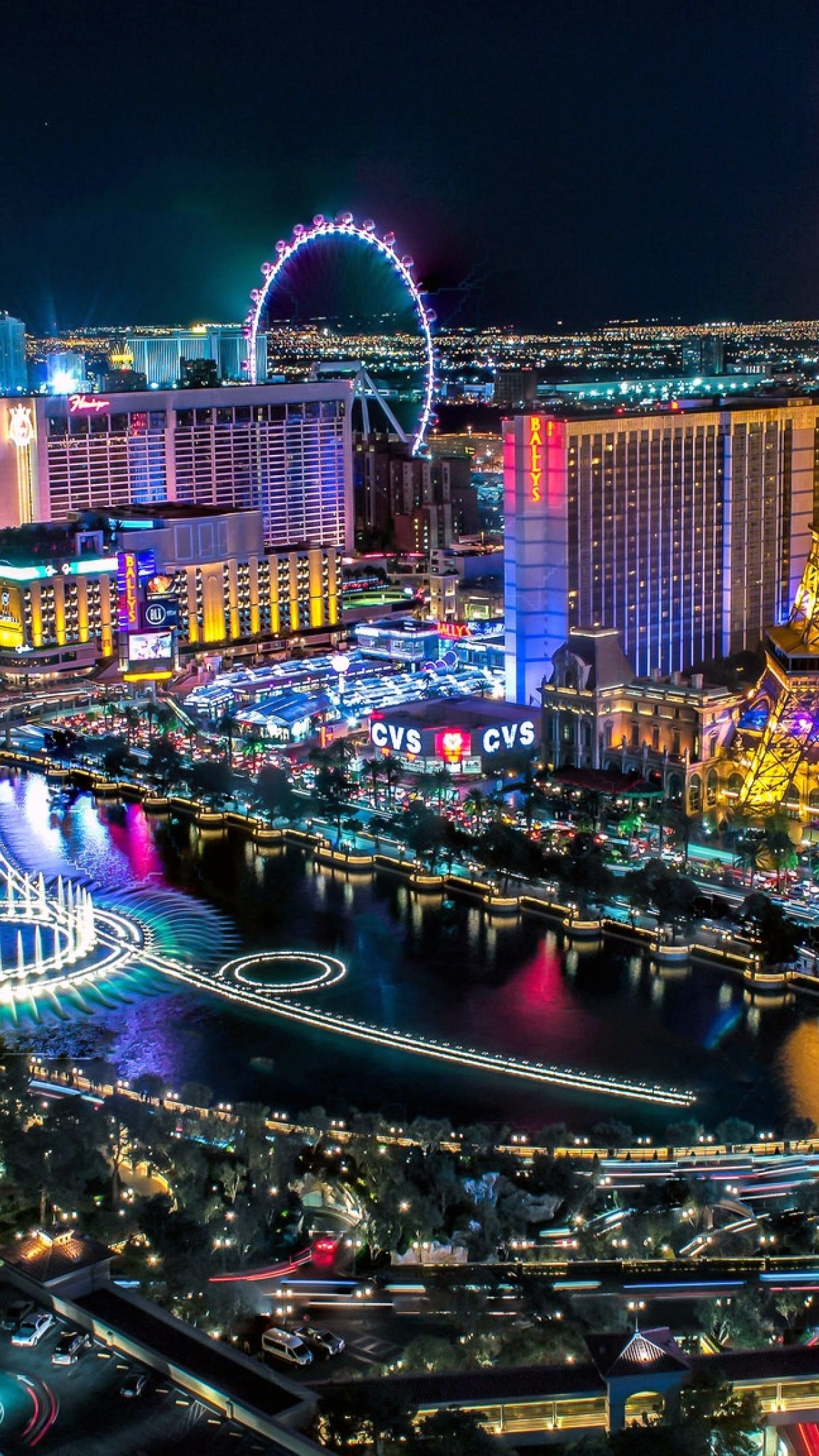 Las Vegas night skyline wallpaper - backiee