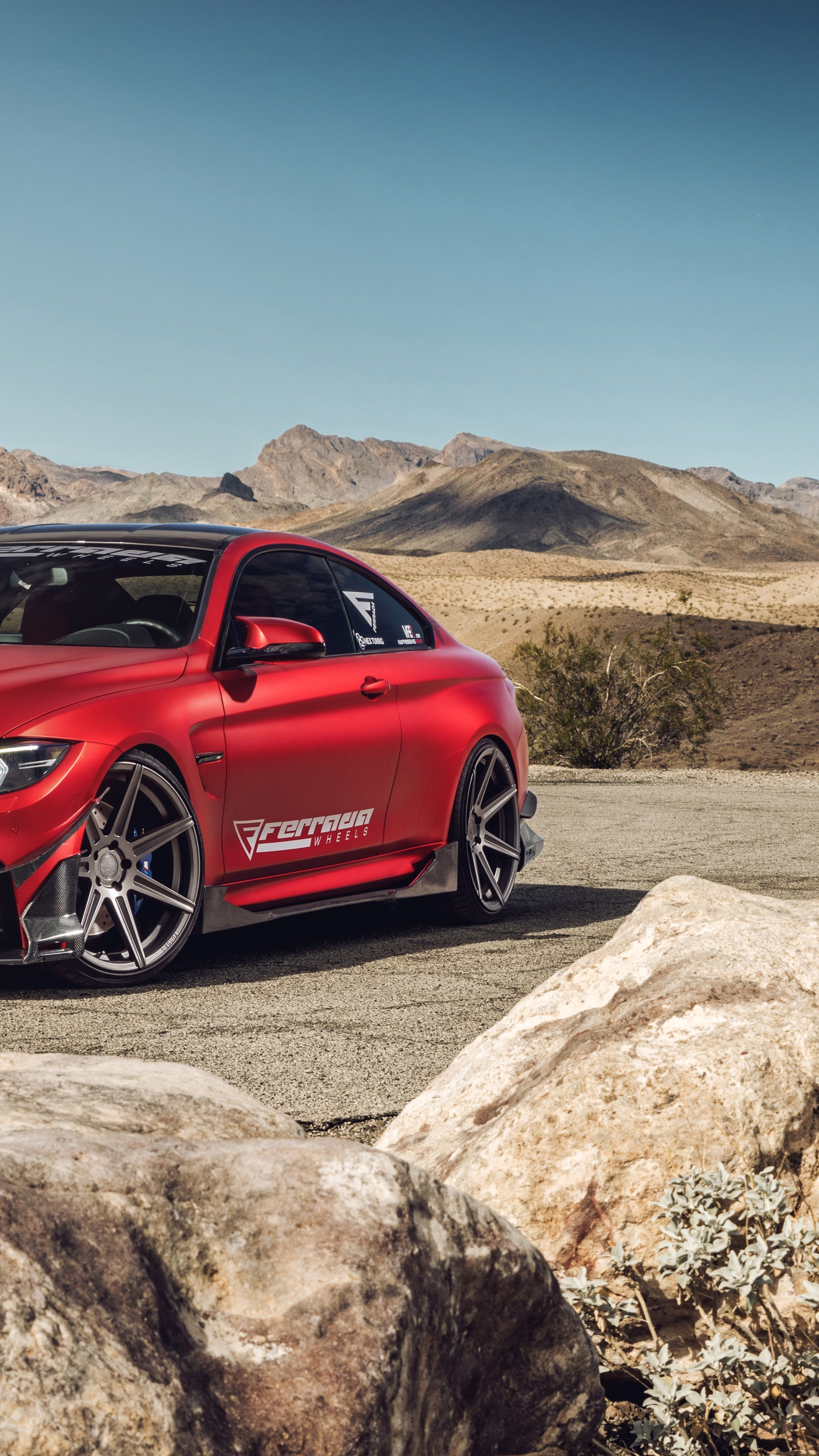 Frozen Red BMW M4 wallpaper - backiee