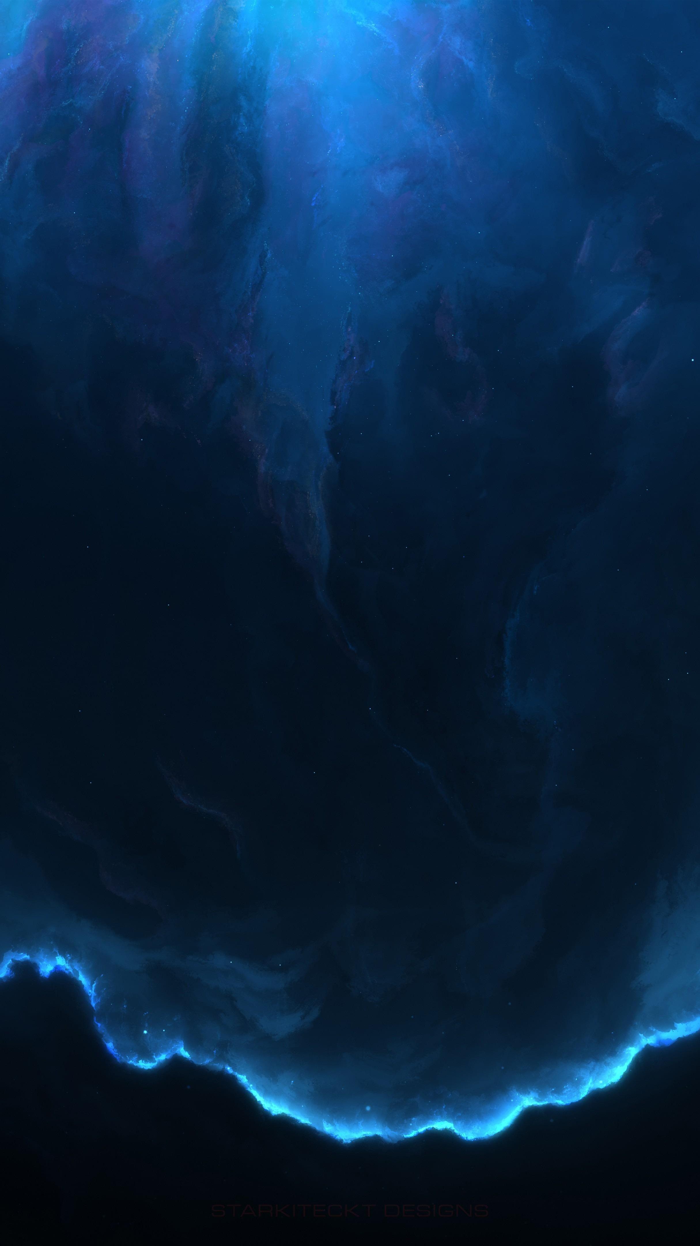 8K UHD Blue universe wallpaper - backiee