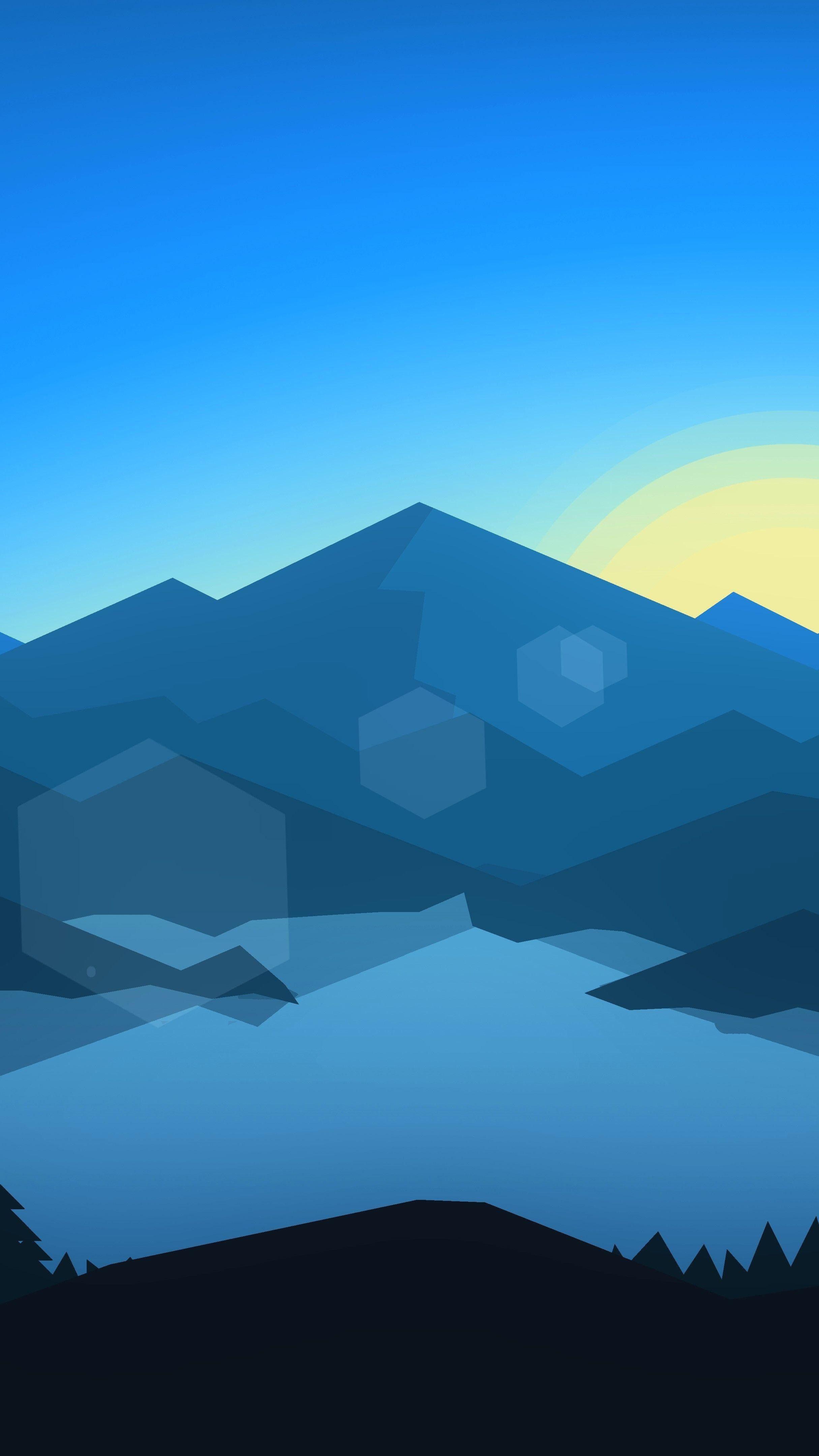 Blue Minimal Landscape 8K UltraHD Wallpaper - backiee ...